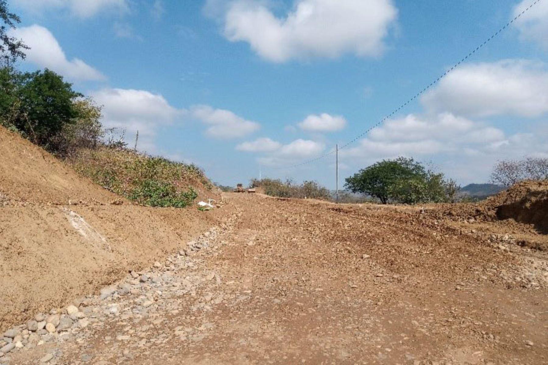 Obras en carretera Rica Playa Bocana-Carreteras-La Choza tiene un avance físico del 20 % y ha generado más de 60 puestos de trabajo. Foto: ANDINA/ARCC