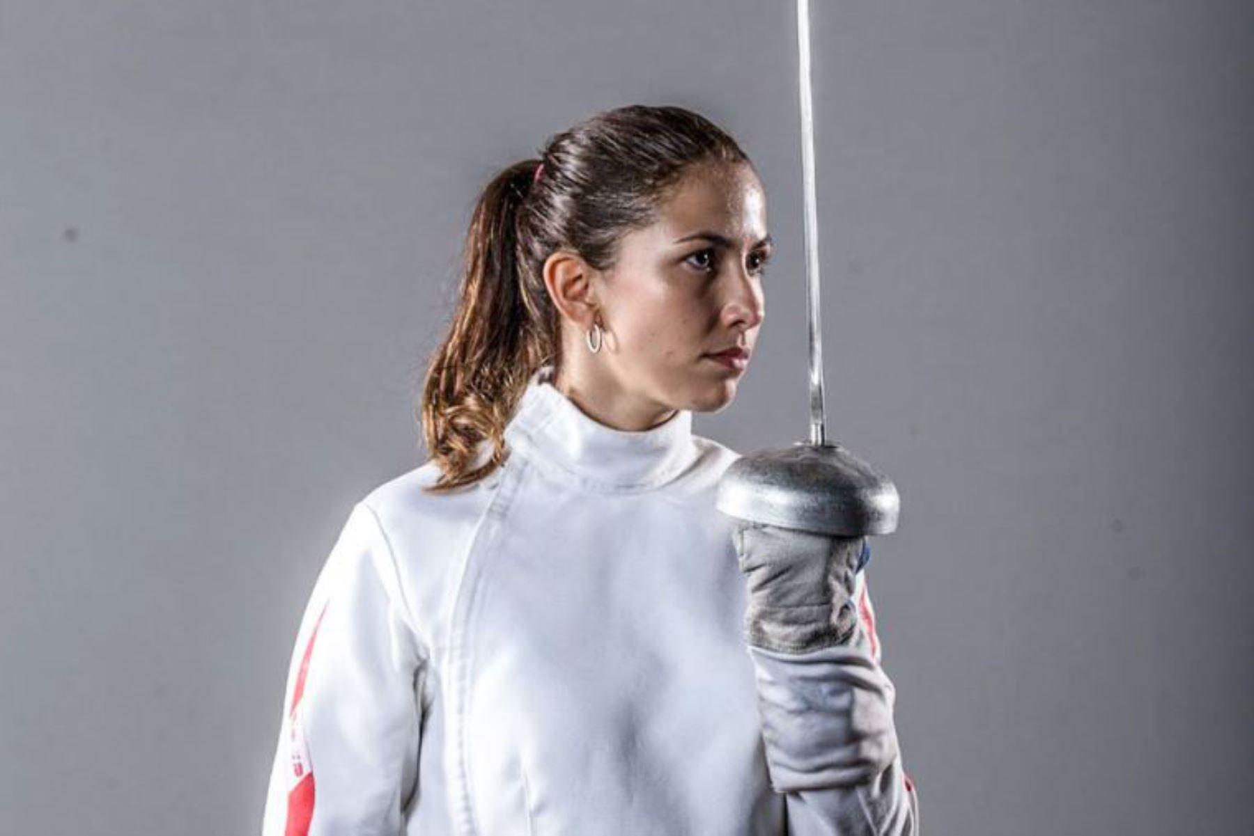 La esgrimista nacional María Luis Doig ,clasifica a  los Juegos Olímpicos de Tokio 2021. Foto: ANDINA/ Difusión