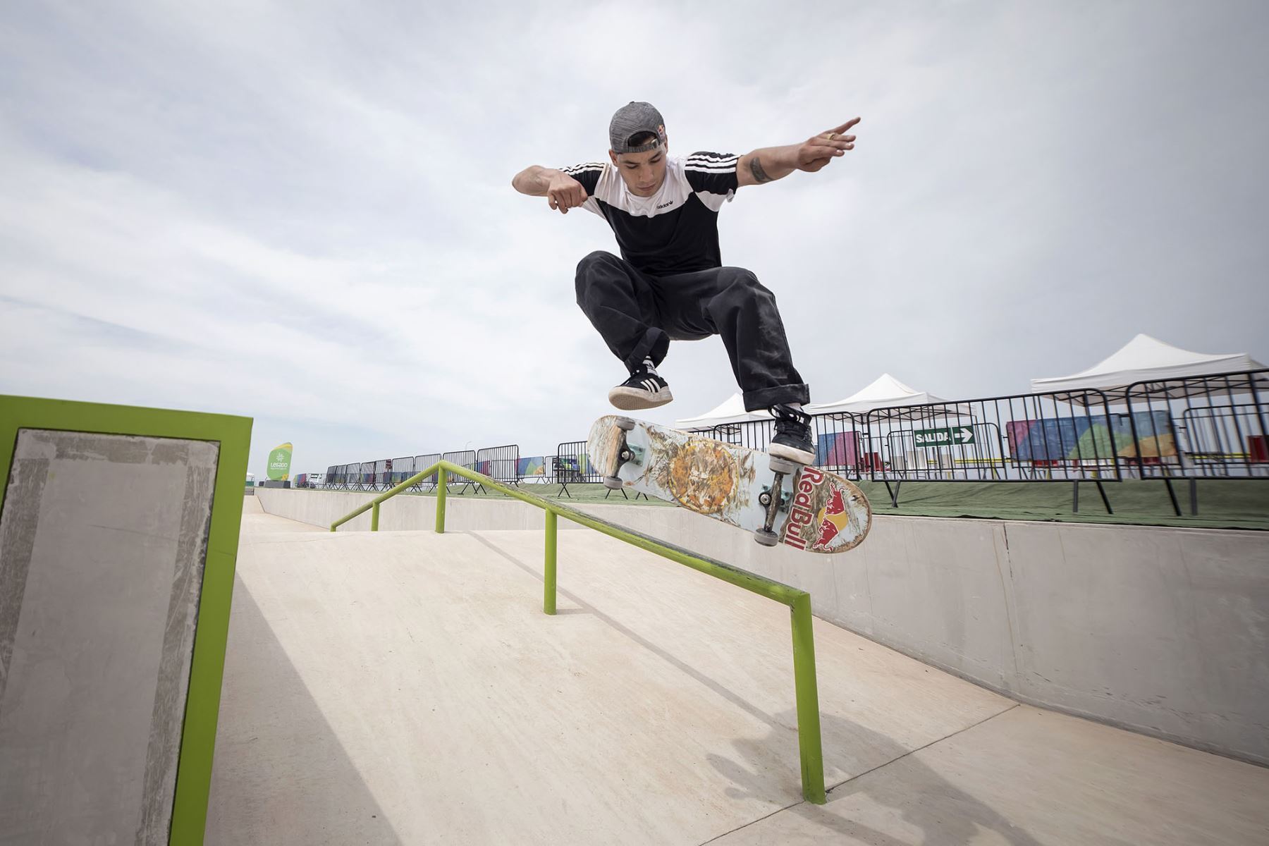 Angelo Caro obtuvo un cupo para representar al Perú en la disciplina de Skateboarding. Foto: ANDINA/ Difusión