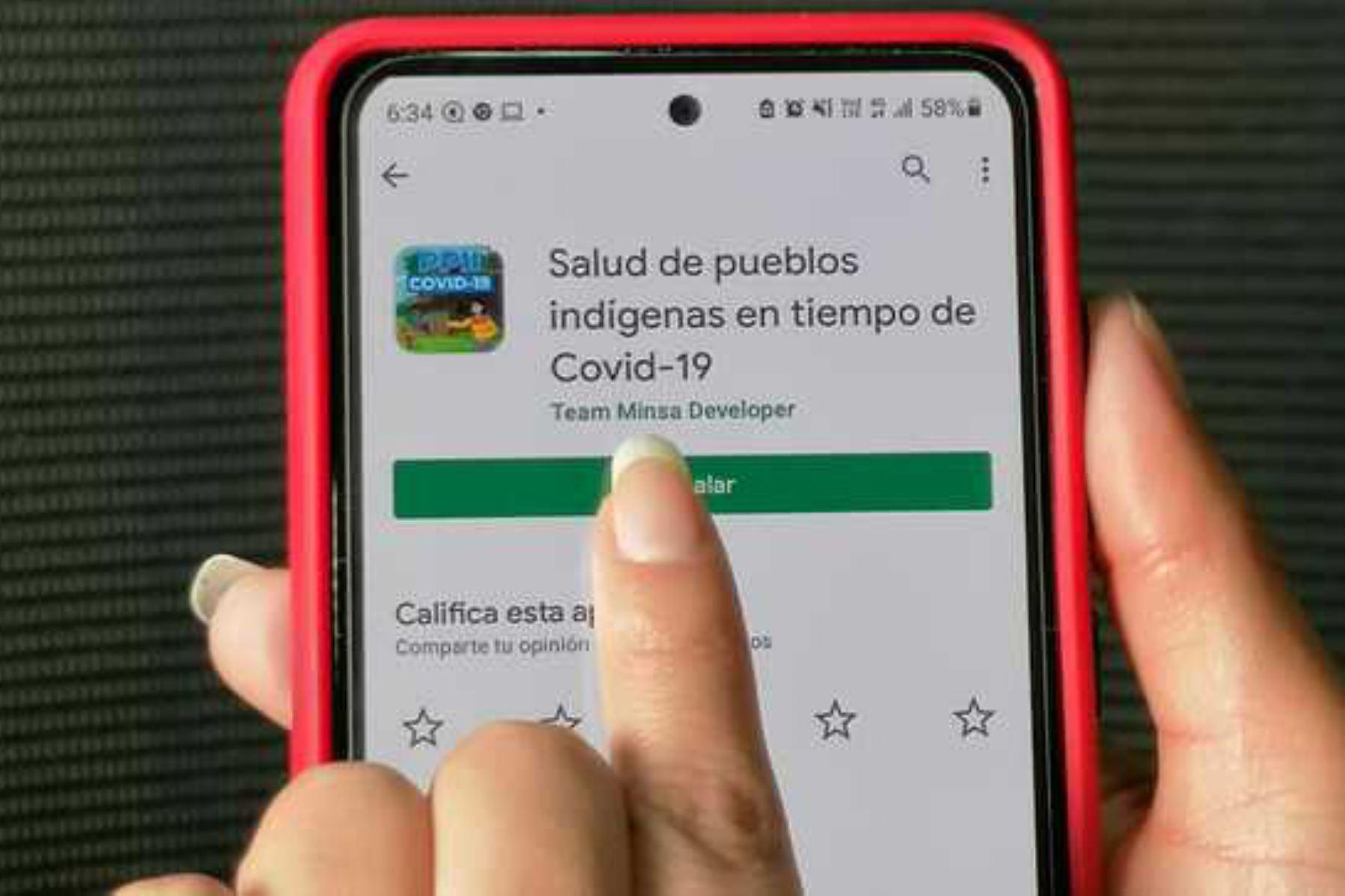 La aplicación se puede descargar, de forma gratuita, en Google Play Store y Huawei. Foto: ANDINA/Minsa.