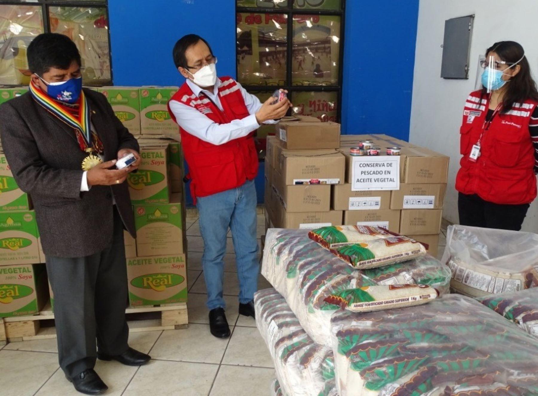Qali Warma entrega más de cinco toneladas de alimentos a la municipalidad distrital de San Sebastián, en Cusco, para la atención de pobladores en situación de vulnerabilidad ante la covid-19.