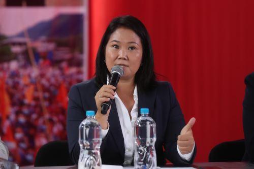 Conferencia de prensa de la candidata a la presidencia, Keiko Fujimori