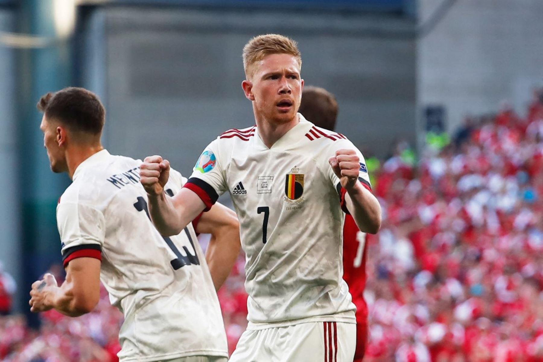 Kevin de Bruyne fue fundamental en el triunfo de Bélgica ante Dinamarca