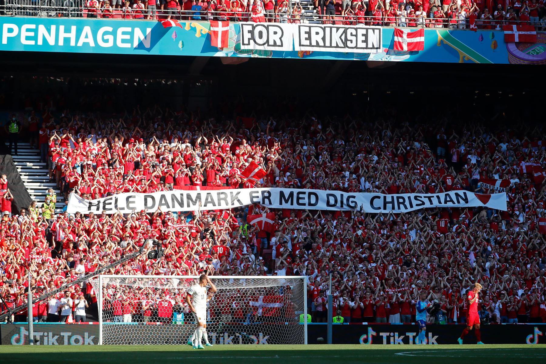 Copenhague rinde homenaje a Christian Eriksen
