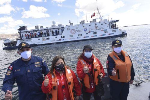 MIDIS: PIAS Lago Titicaca I zarpó llevando vacunas contra el covid-19 para pobladores de islas