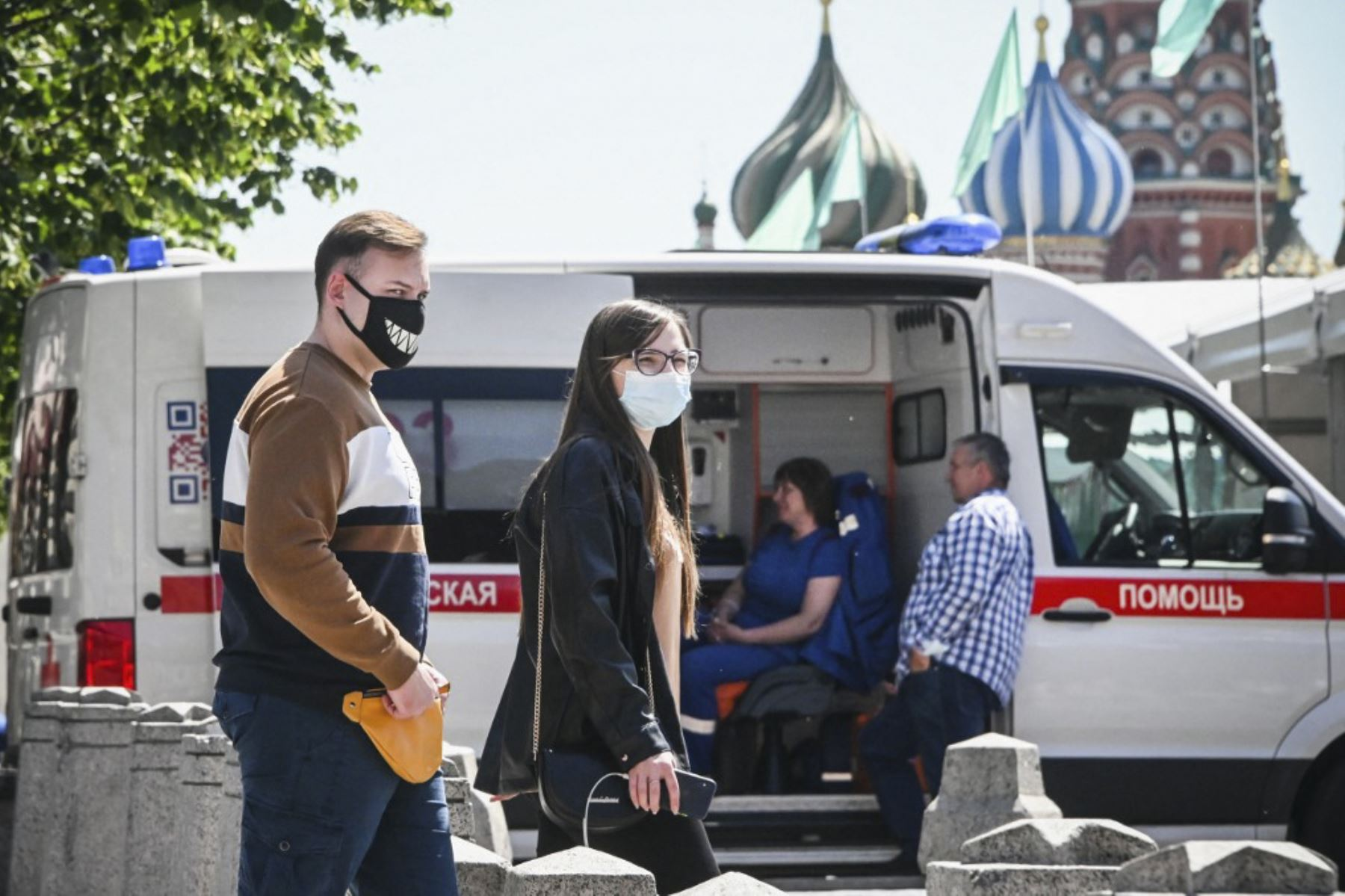 En Moscú se registraron 9.056 nuevos casos de covid-19 en 24 horas, un récord desde el inicio de la epidemia y el triple del nivel registrado hace menos de dos semanas. Foto: AFP