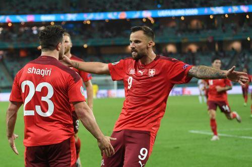 Suiza gana 3 a 1 a Turquia en un partido por la Eurocopa 2021