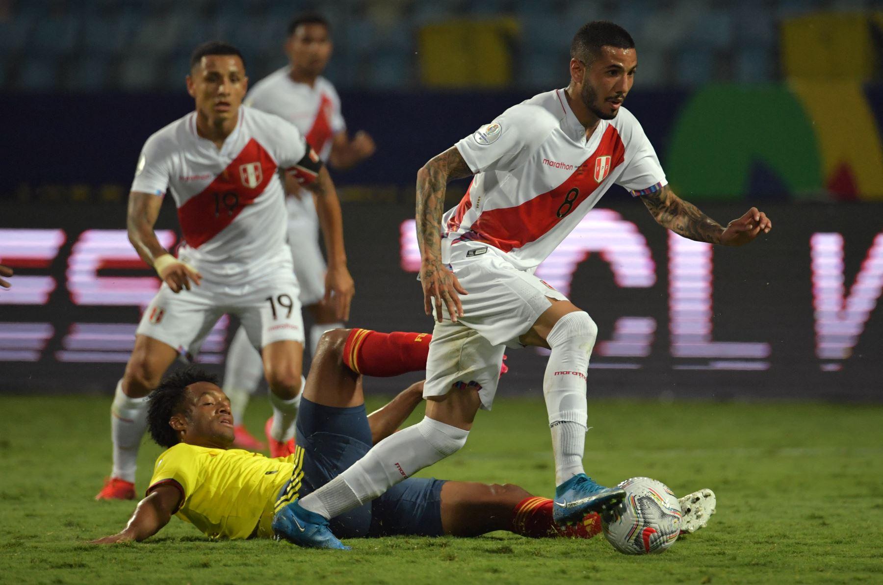 Partido Perú versus Colombia en la Copa América 2021. Foto: AFP