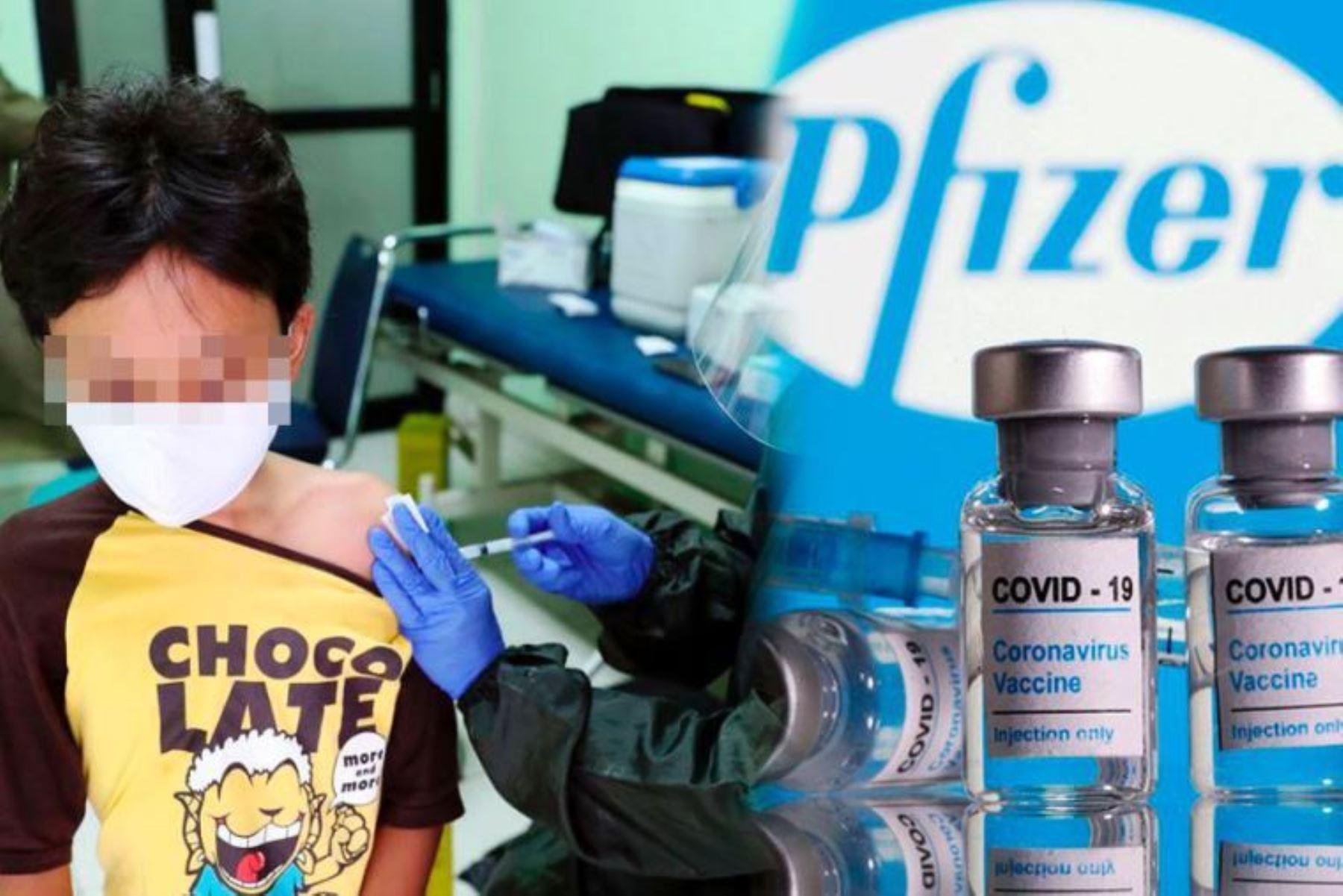 Digemid autoriza uso de la vacuna Pfizer en menores de 12 a 15 años. Foto: ANDINA/Difusión.