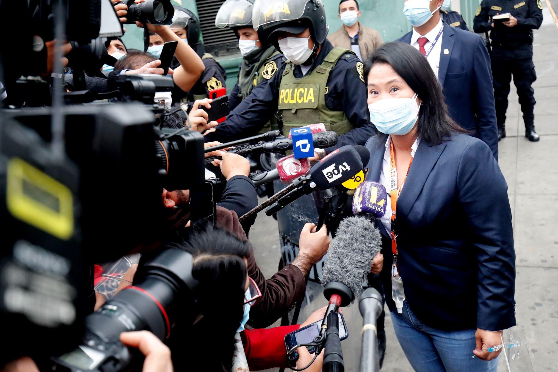 Declaran infundado pedido de prisión preventiva a Keiko Fujimori