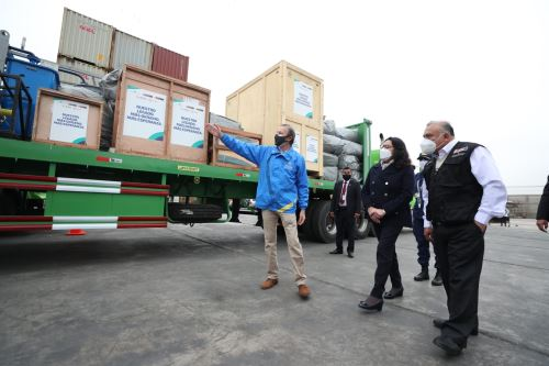 Jefa del Gabinete supervisa llegada de planta criogénica-fábrica de oxígeno en Pacasmayo