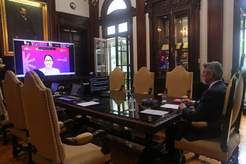 Presidente Francisco Sagasti participó en el lanzamiento del Programa Nacional de Desarrollo Tecnológico e Innovación (Proinnóvate)