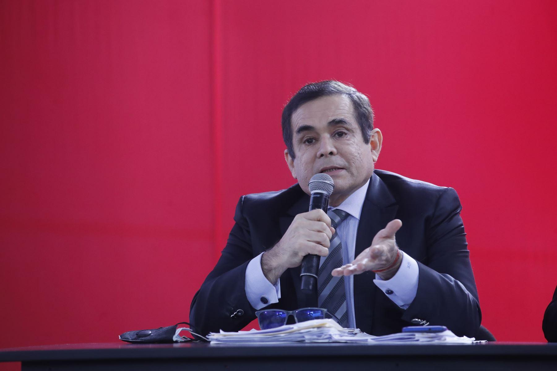 Fuerza Popular brinda conferencia de prensa tras audiencia del JNE. Foto: ANDINA/Juan Carlos Guzmán