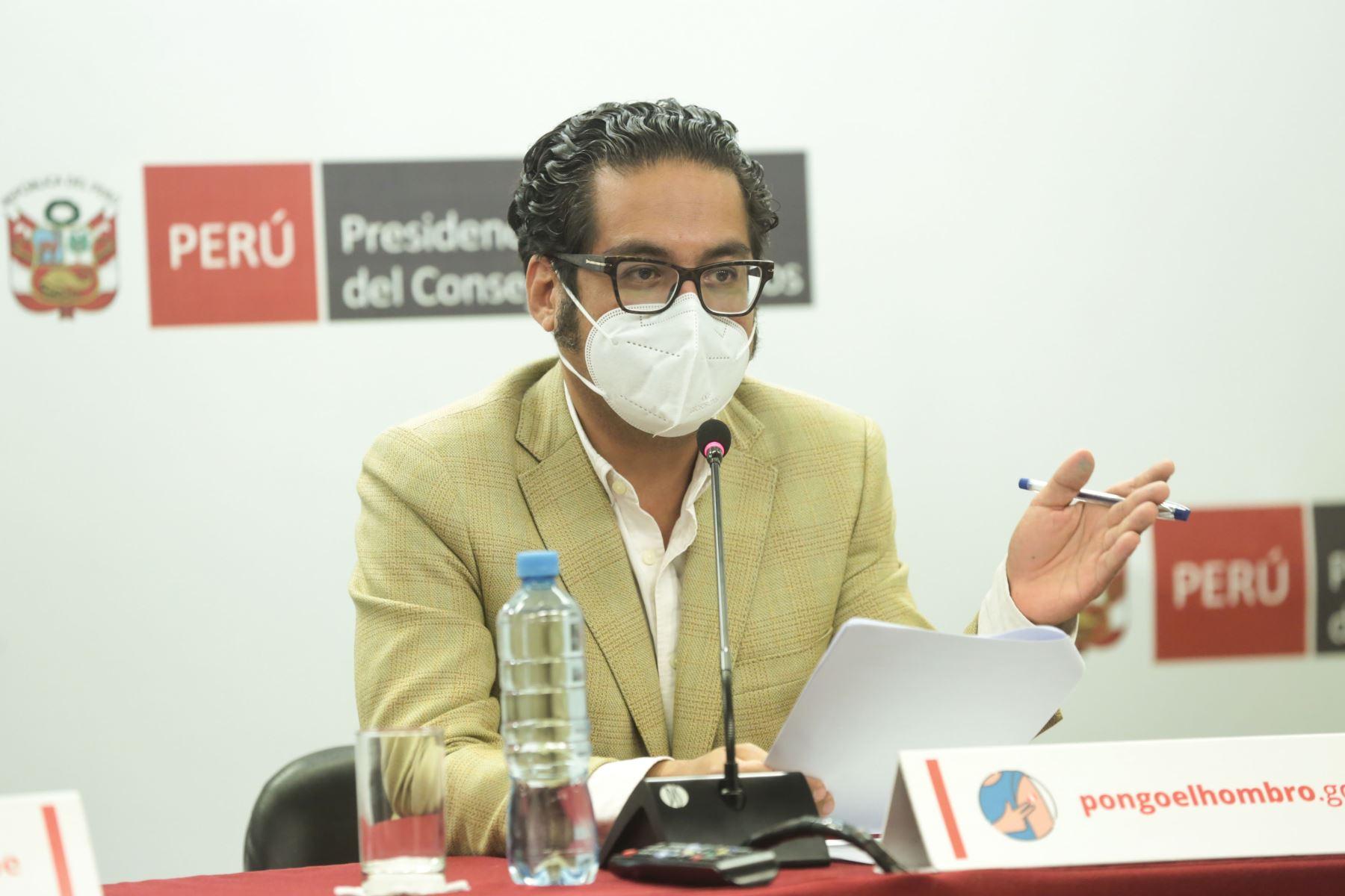 Ministros brindarán informe de gestión en conferencia de prensa