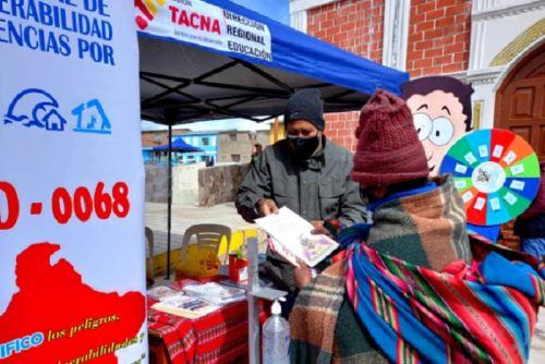 La Subgerencia de Población, Desarrollo Social e Igualdad de Oportunidades del Gore Tacna entregó 72 frazadas a los adultos mayores para la temporada de heladas.