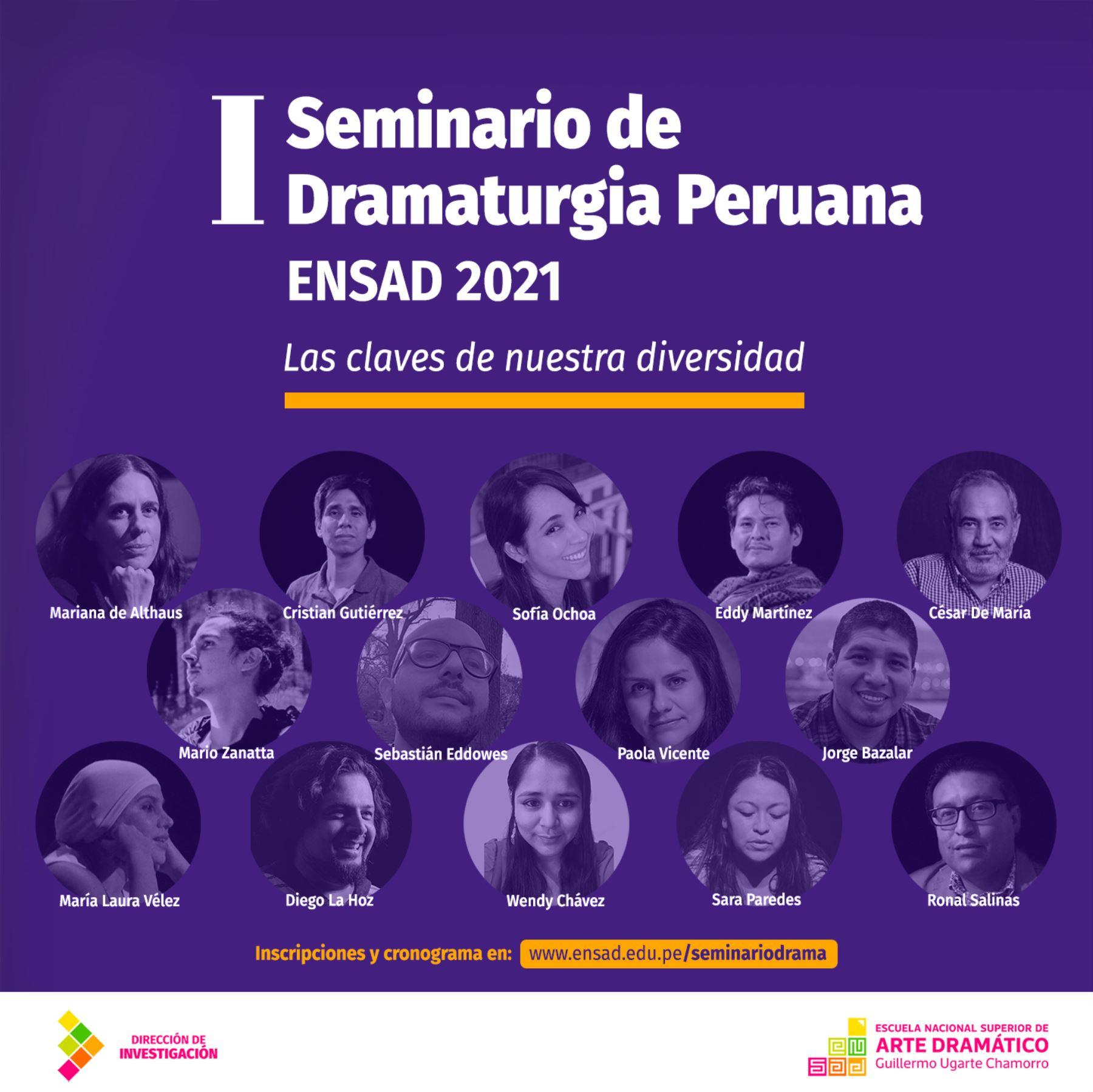 I Seminario de Dramaturgia peruana Ensad 2021: Las claves de nuestra diversidad.