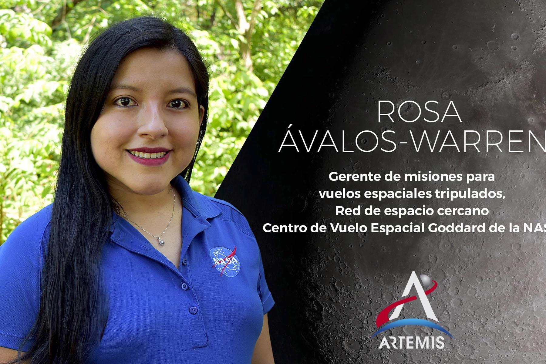 La ingeniera peruana Rosa Ávalos-Warren participa en eventos que promueven las carreras en ciencia, tecnología, ingeniería y matemáticas. Foto: NASA