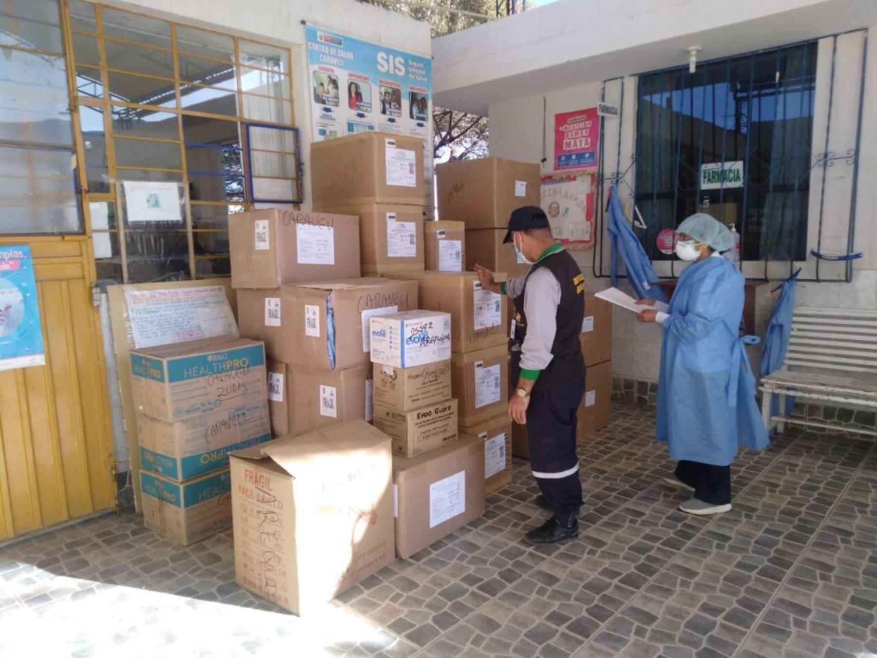 La región Arequipa recibió nuevo lote de vacunas para continuar con vacunación contra la covid-19.Foto: ANDINA/Difusión