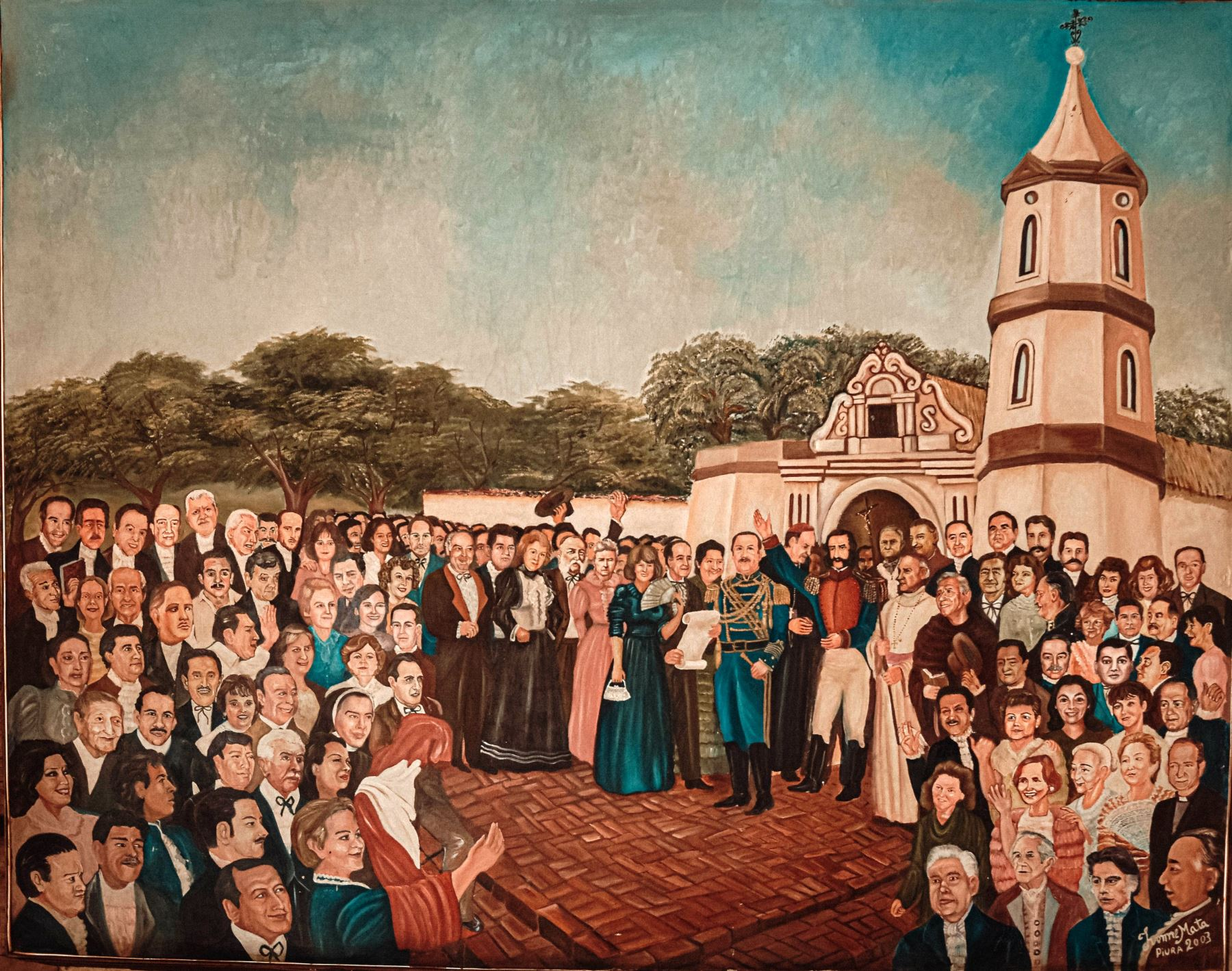 Óleo sobre lienzo Jura de la Independencia de Piura.