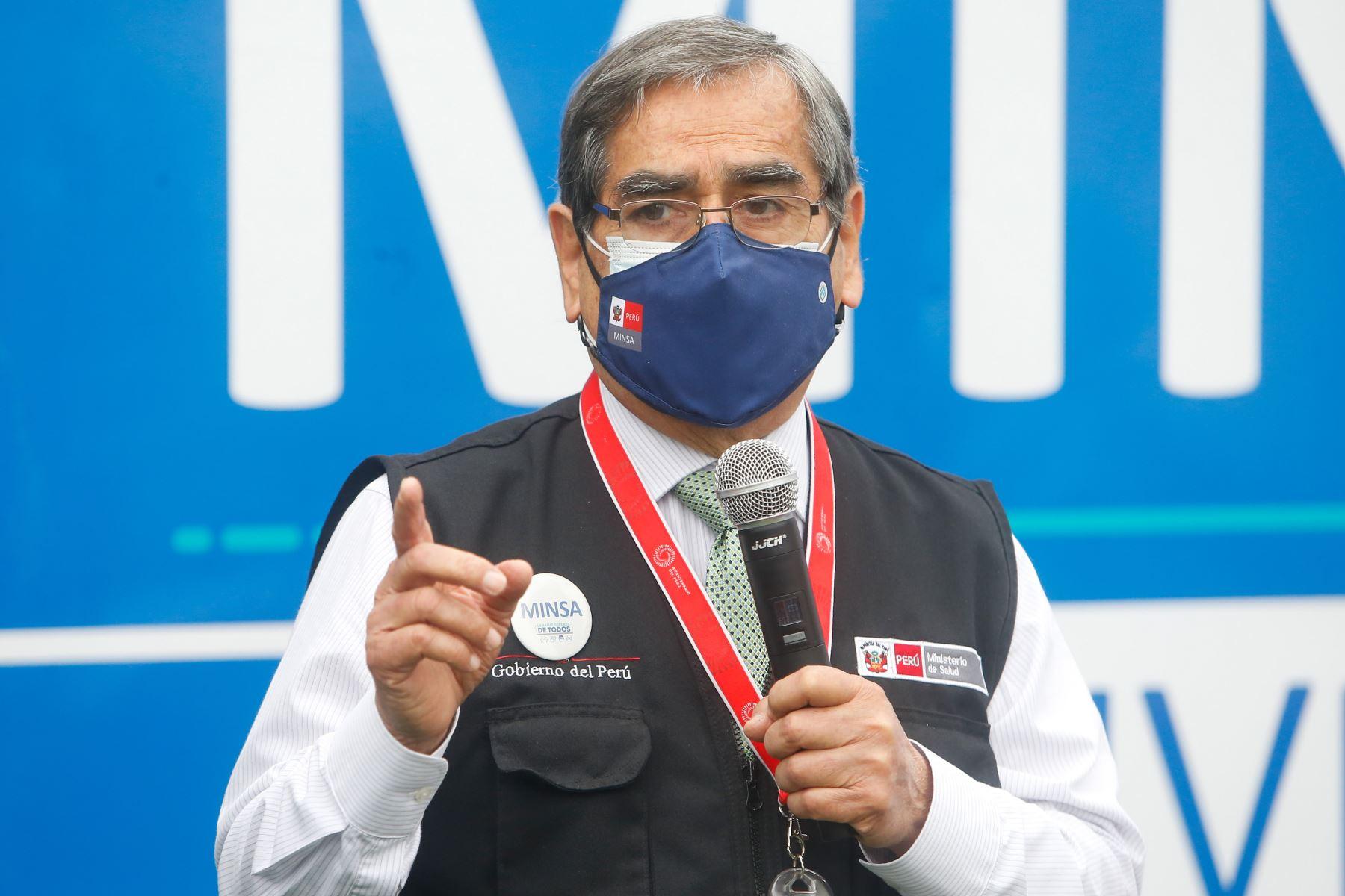 Ministro de Salud, Óscar Ugarte. ANDINA/Difusión