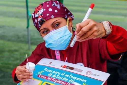La prueba para detectar VPH está orientada a mujeres entre 30 a 49 años y es totalmente gratuita Foto: ANDINA/Difusión.