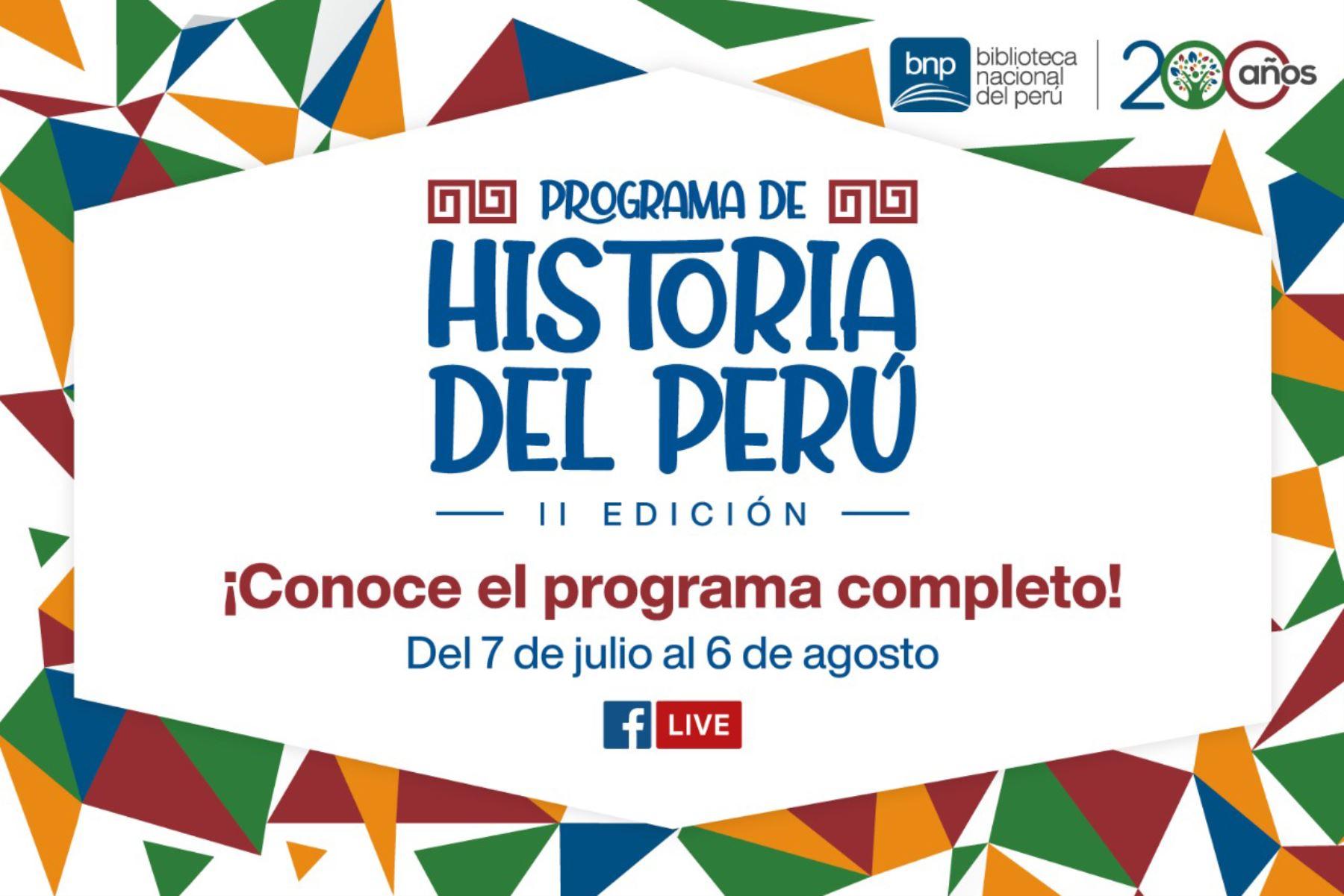 """Biblioteca Nacional del Perú anuncia la segunda edición del """"Programa de Historia"""""""