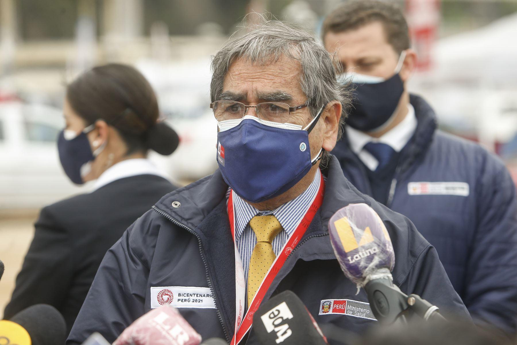 Ministro de Salud: primera vacunatón superó la meta de 220 mil dosis