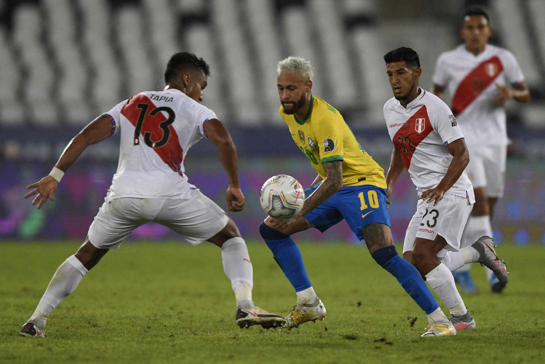 Semifinal de la Copa América: Brasil le gana a Perú por 1 a 0 al final del primer tiempo