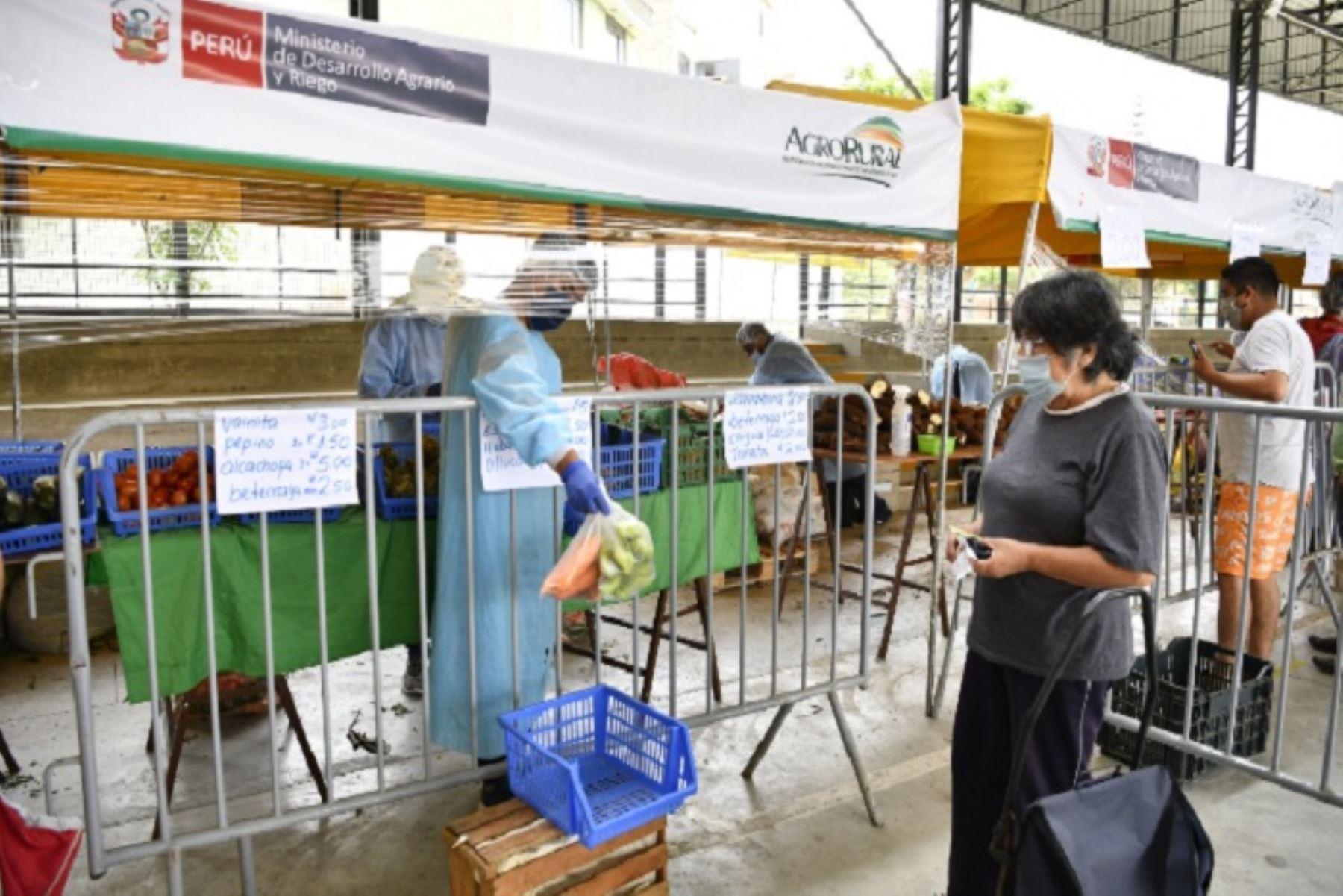 Mercados Midagri comercializan más de 5,000 toneladas de alimentos