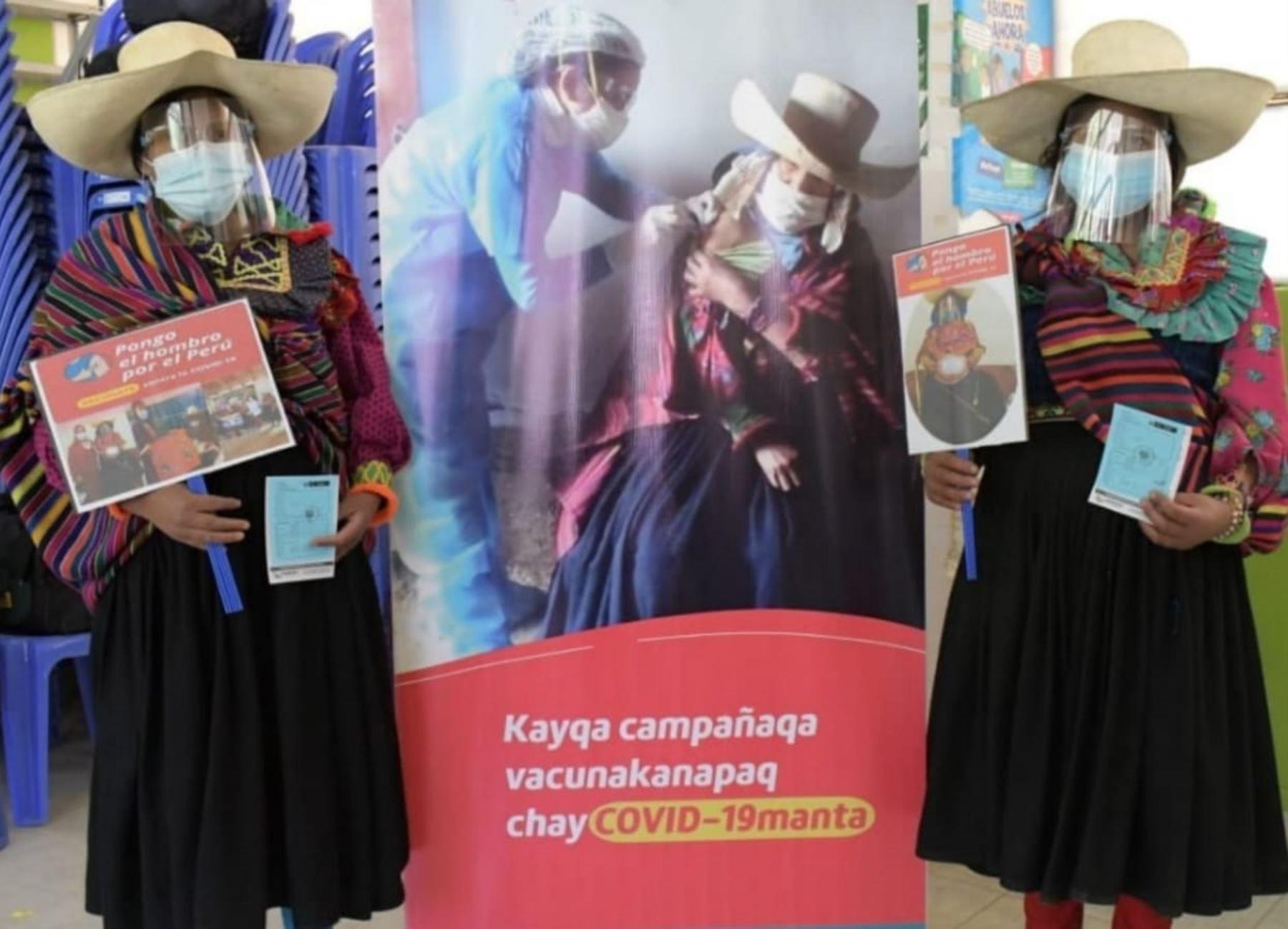 Lambayeque: avanza vacunación de adultos mayores y gestantes en distrito de Incahuasi