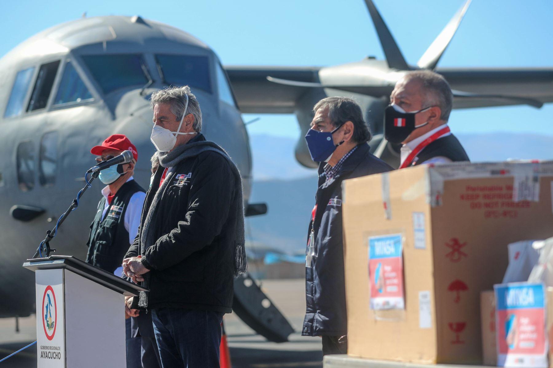 Presidente Sagasti viaja a región Huánuco para entregar nuevo lote de vacunas