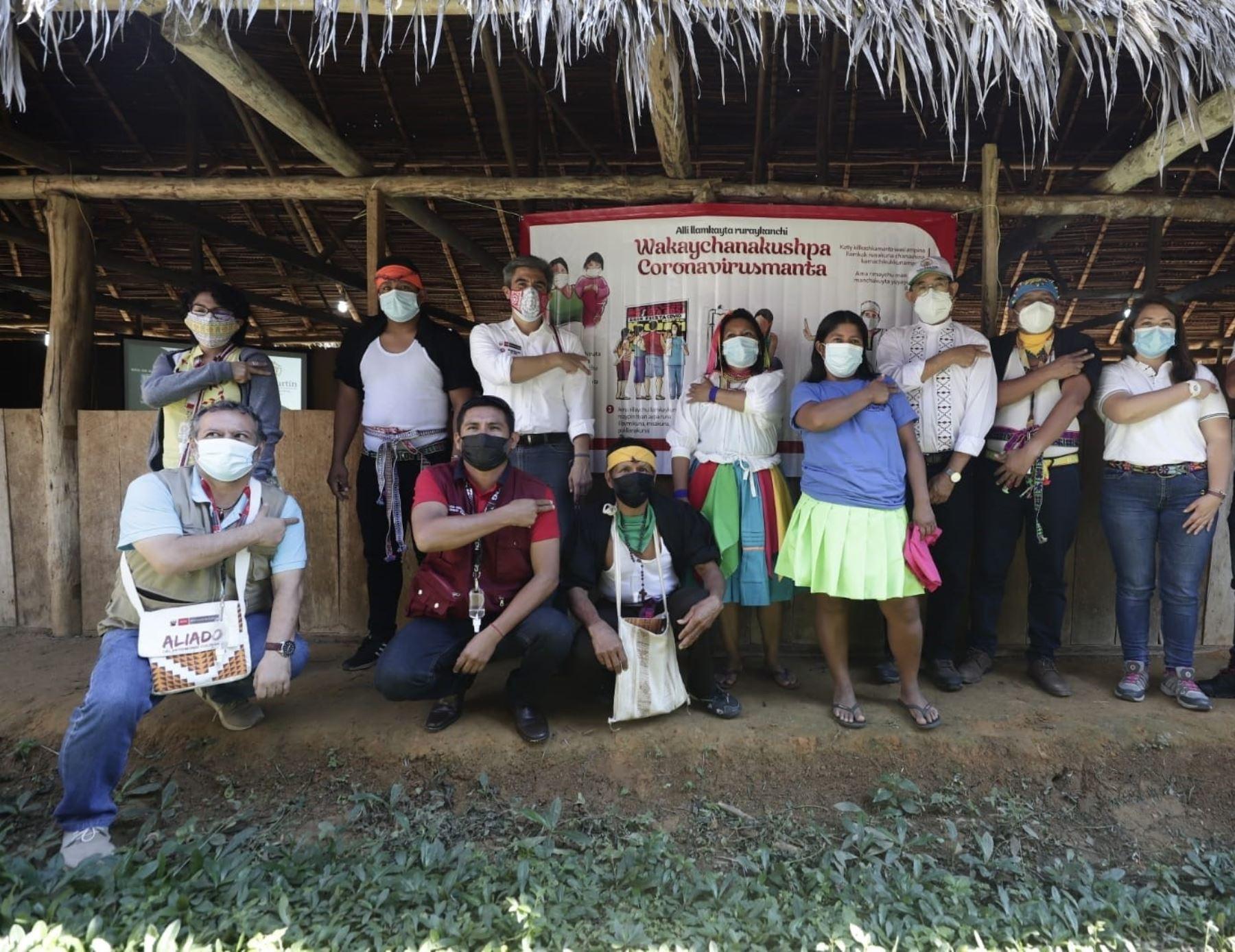¡Buena noticia! 5,000 indígenas de San Martín ya recibieron la vacuna contra la covid-19