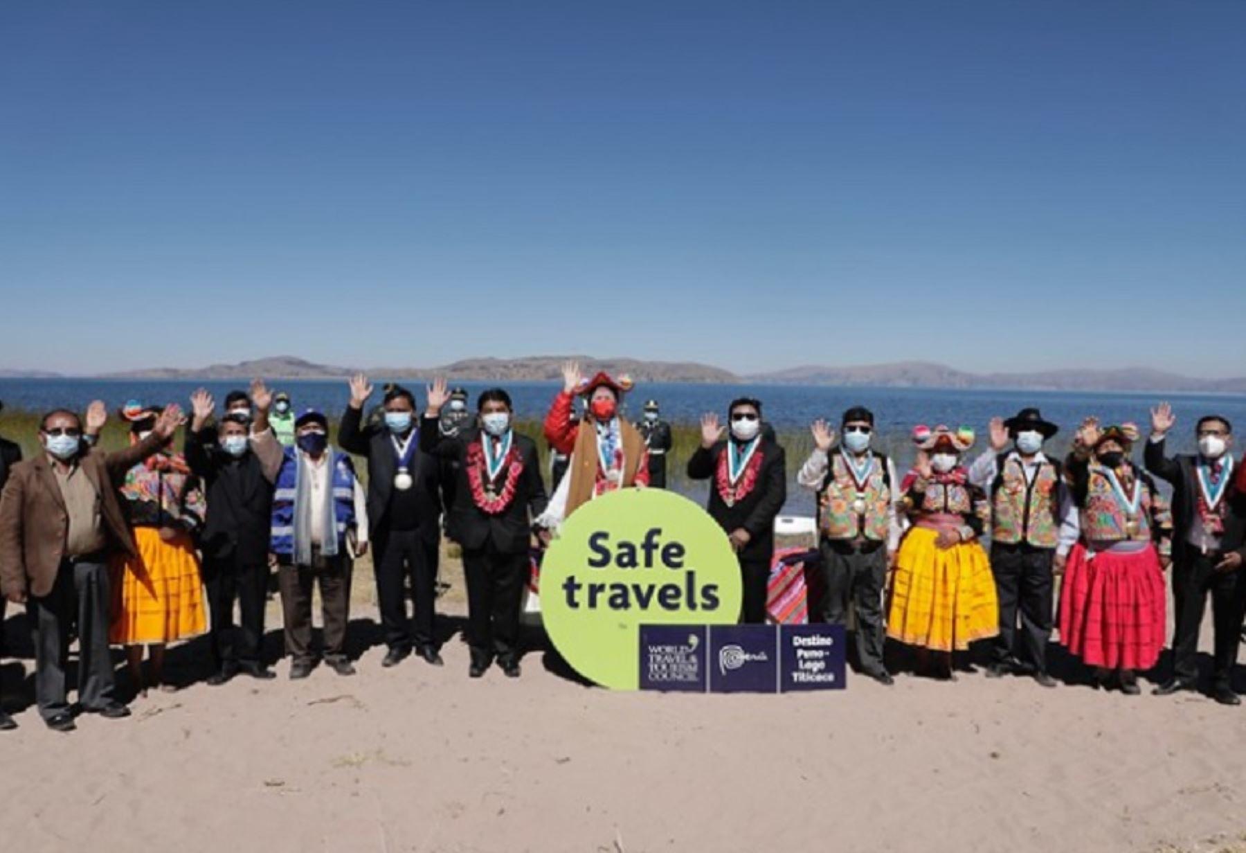El Ministerio de Comercio Exterior y Turismo entregó hoy el sello internacional Safe Travels al destino Puno-Lago Titicaca. De esta manera, esta importante zona al sur del Perú se prepara para recibir a los visitantes nacionales y extranjeros.