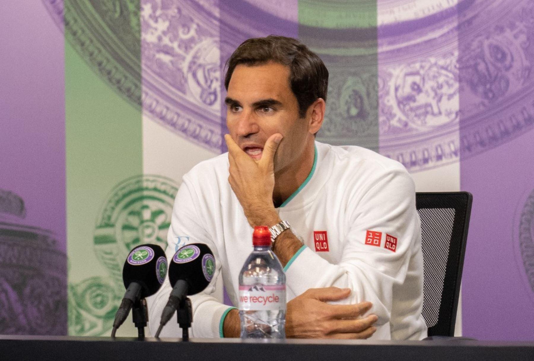 """Federer: \""""Me gustaría jugar de nuevo en Wimbledon, pero no sé a mi edad\"""""""