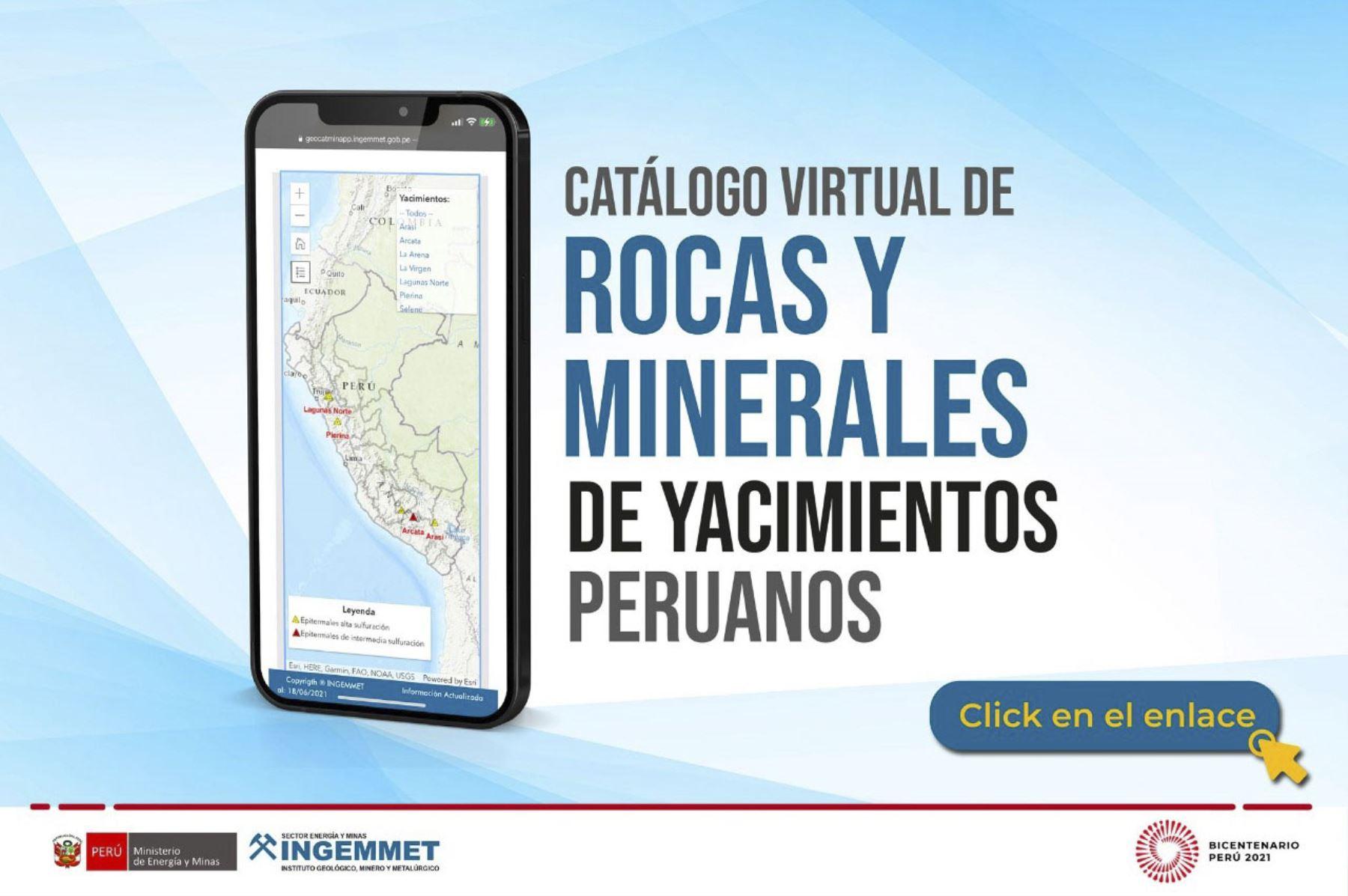 Perú cuenta con primer catálogo virtual de rocas y minerales de yacimientos nacionales