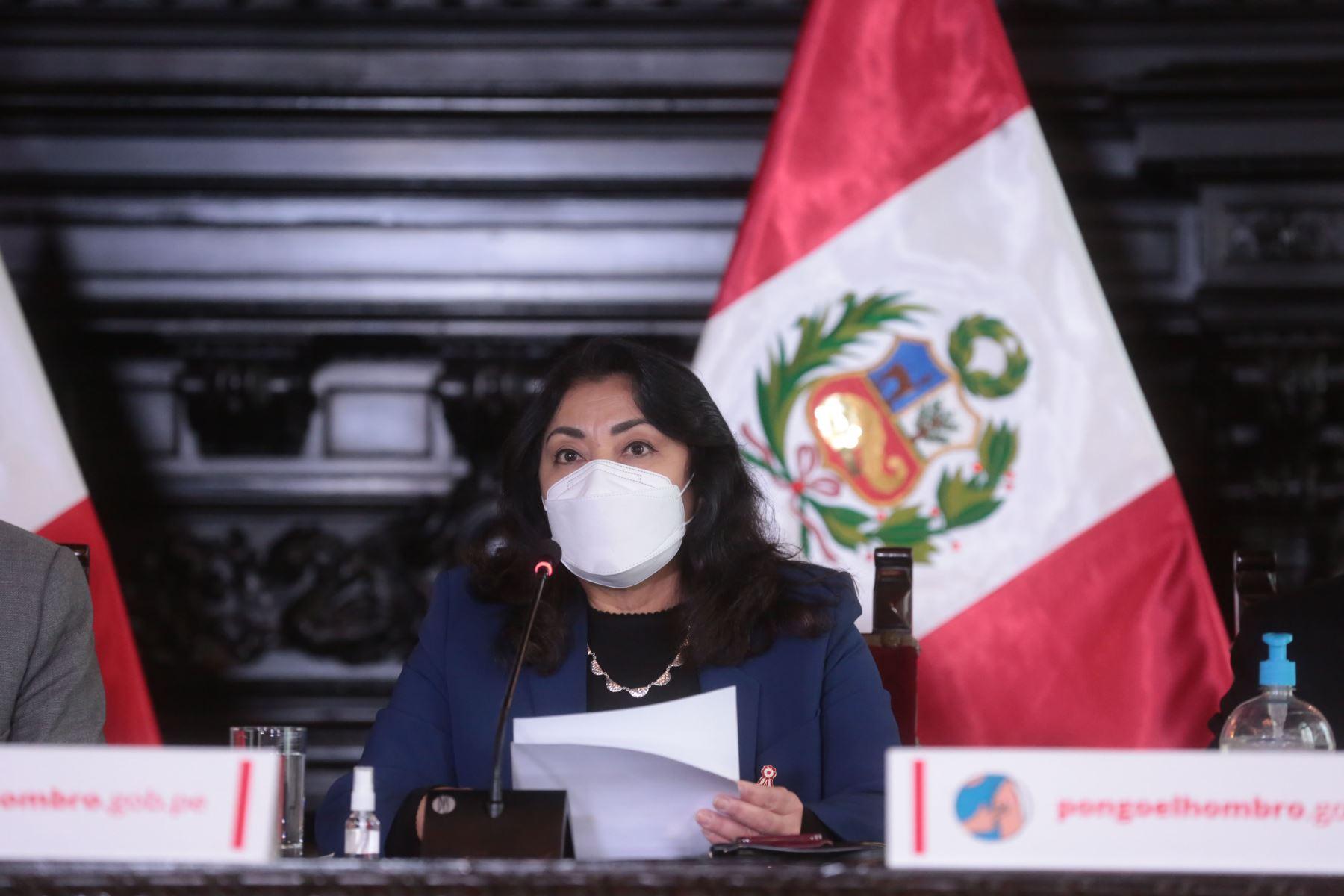 Violeta Bermúdez informará sobre acuerdos asumidos en Consejo de Ministros