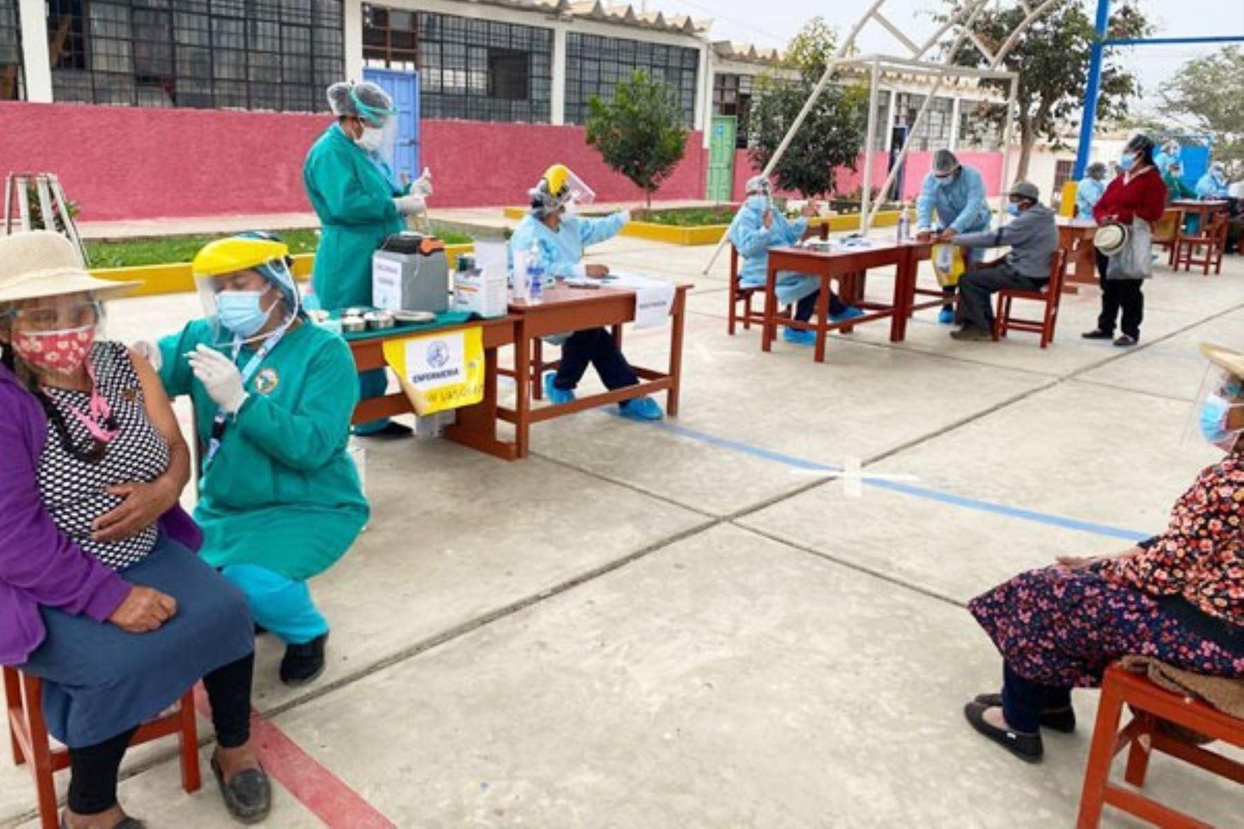 Áncash: fortalecen proceso de vacunación en Valle Fortaleza y Huarmey
