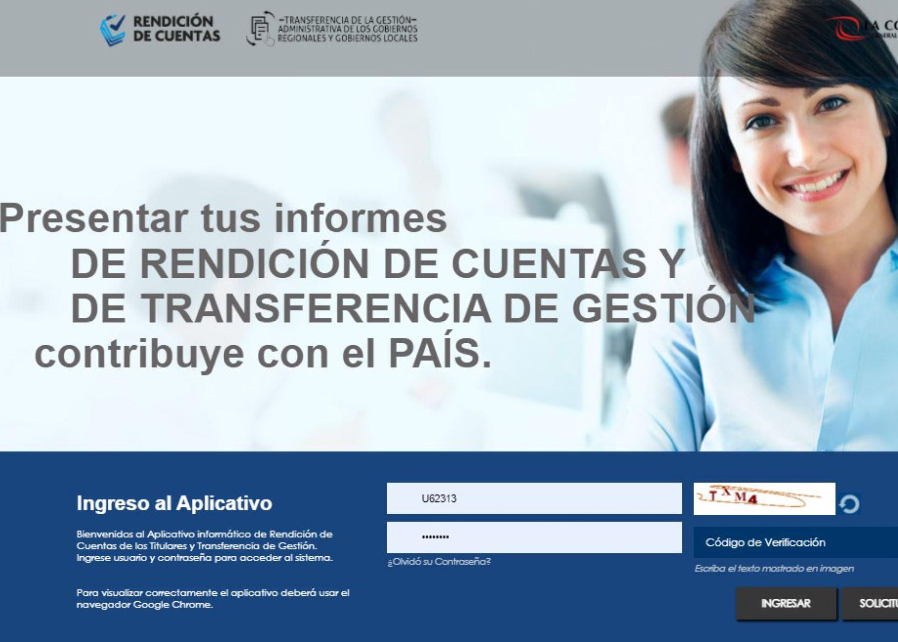 Contraloría crea aplicativo para transferencia y rendición de cuentas