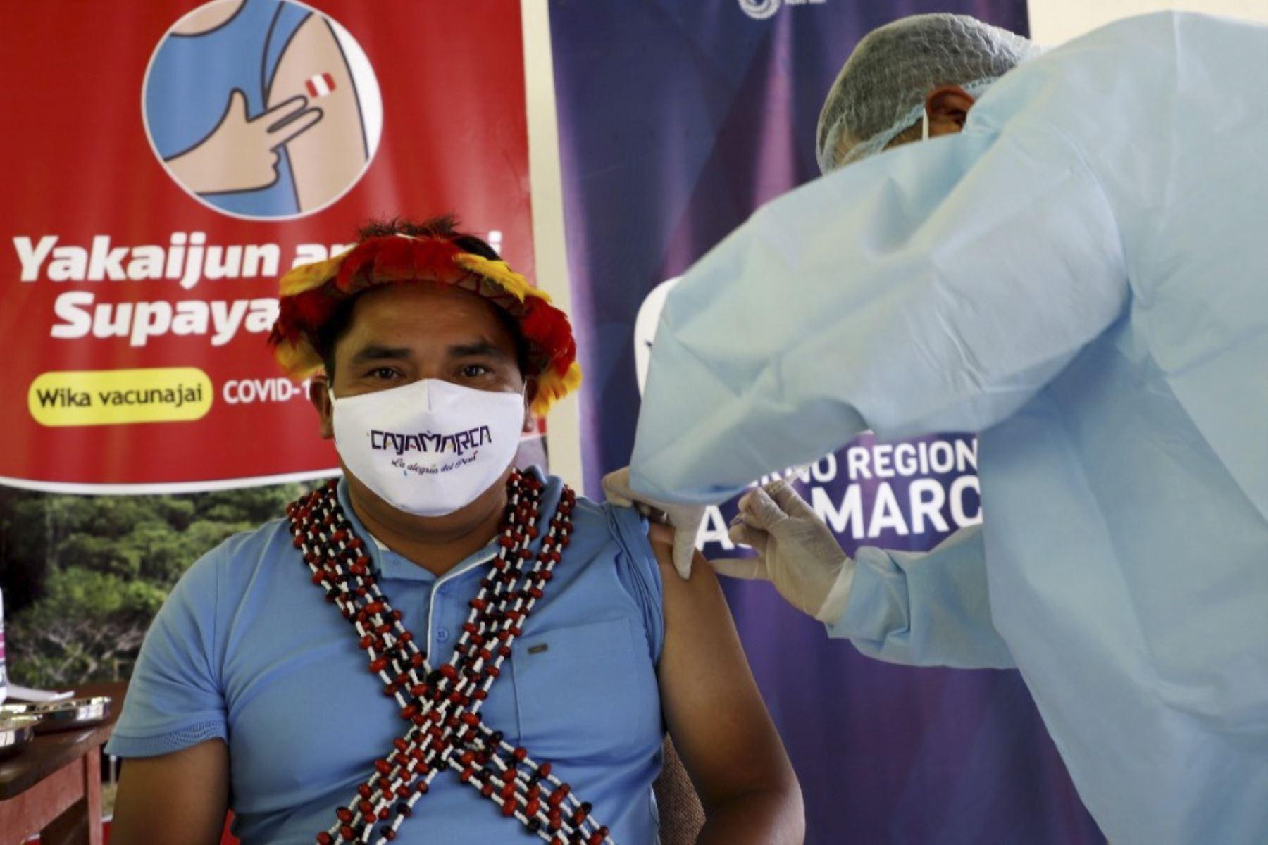 Covid-19: brigadas de salud prevén vacunar a 1,389 ciudadanos indígenas de Cajamarca