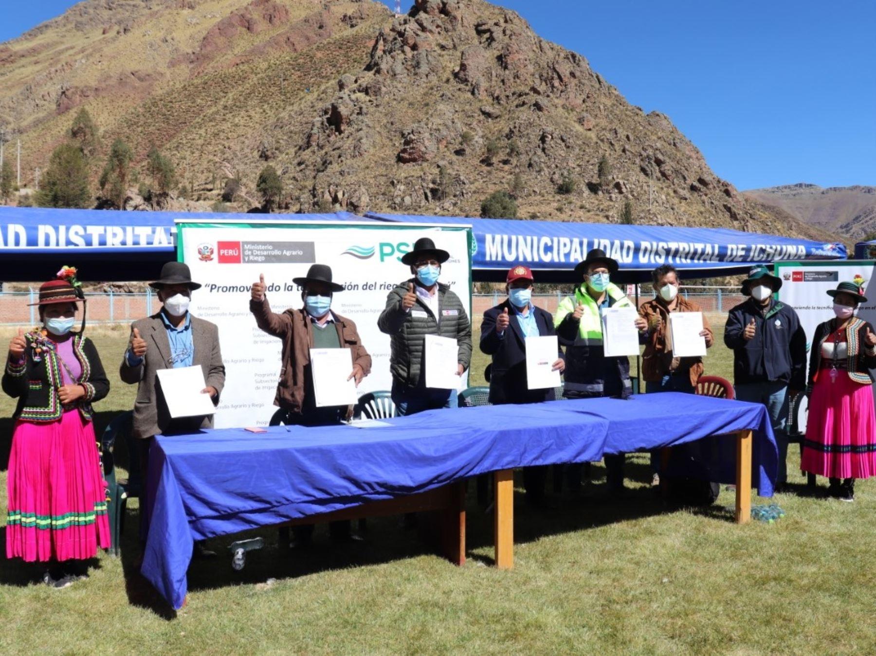 Midagri inicia estudios de expediente técnico del proyecto hídrico Yanapujio, en la región Moquegua. ANDINA/Difusión