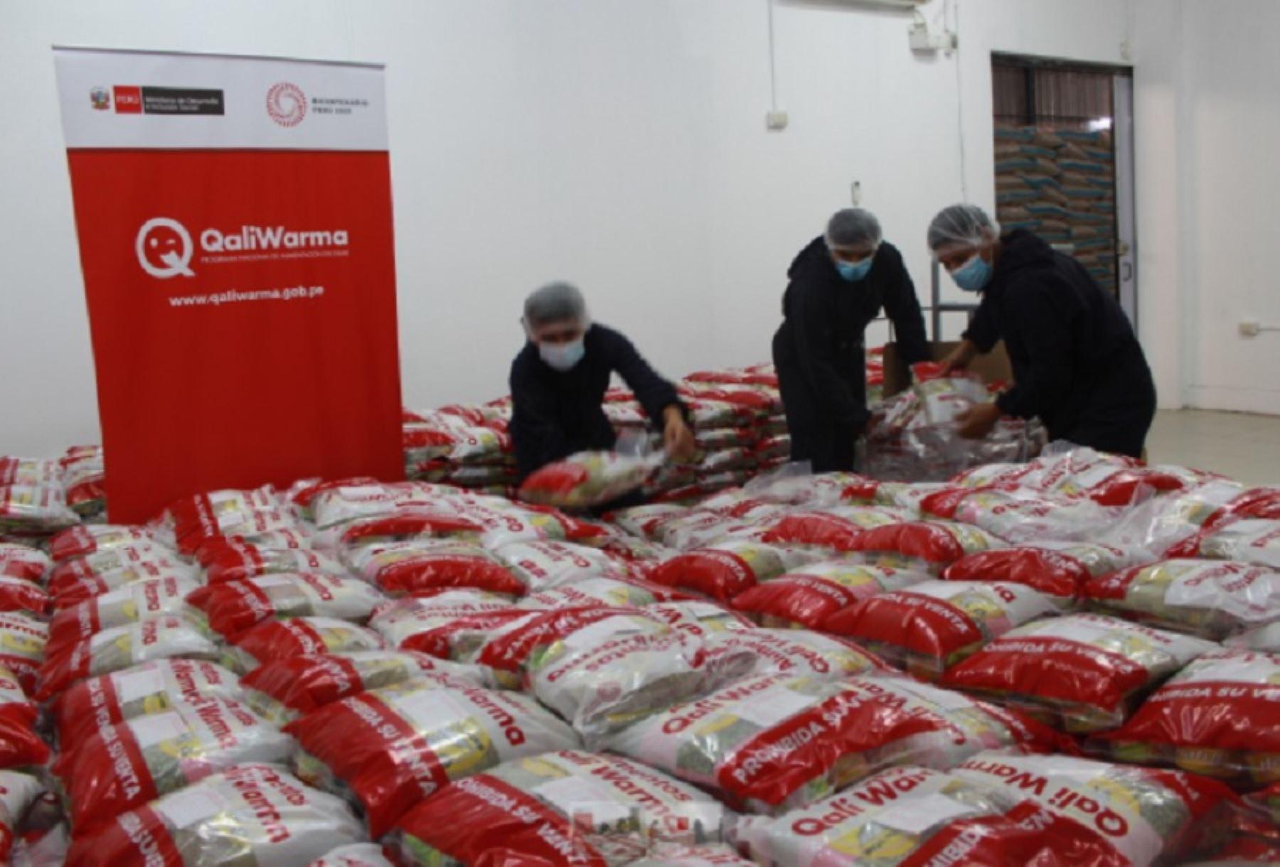 Qali Warma entrega cerca de 36 toneladas de alimentos al municipio de Chiclayo