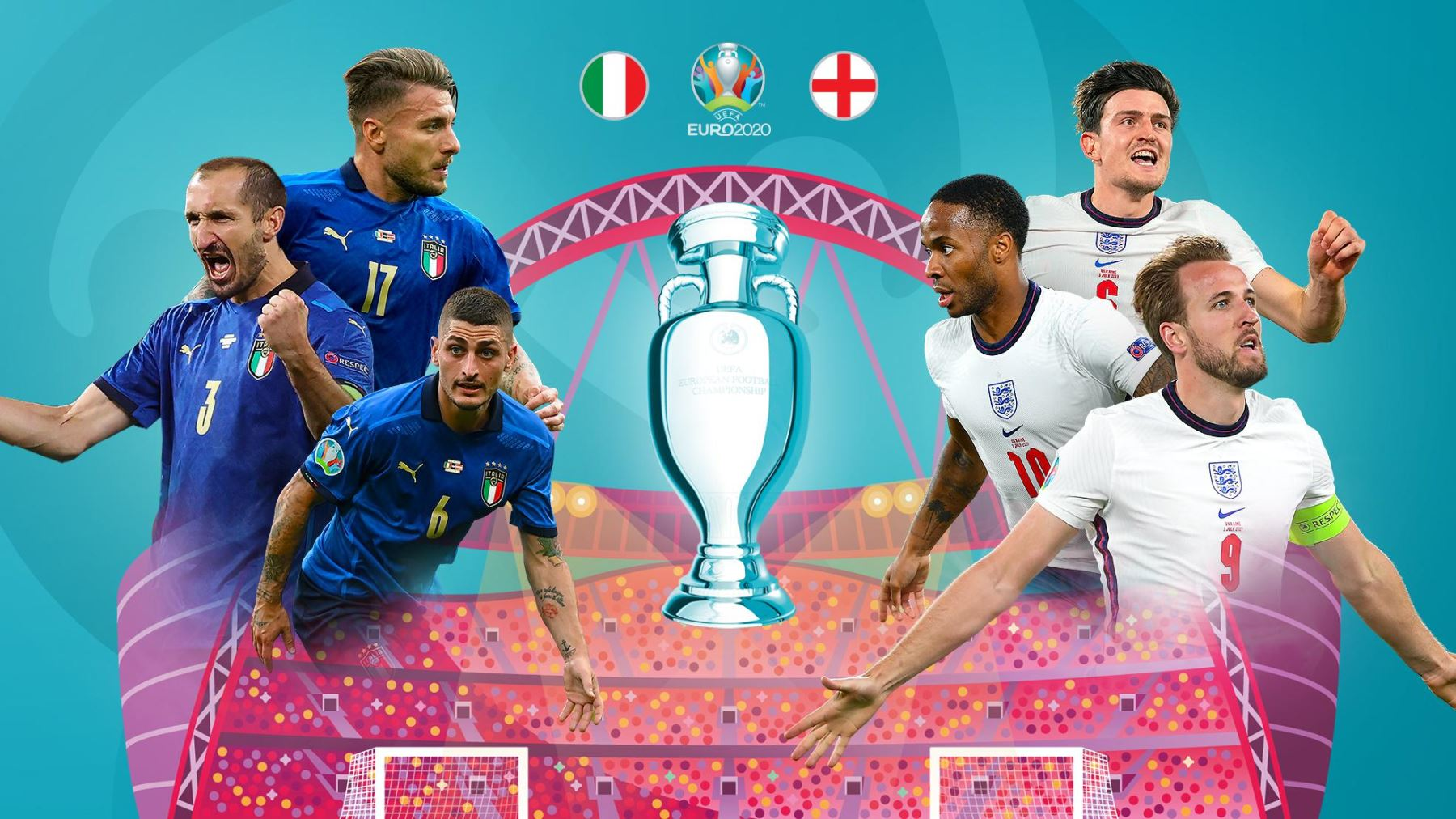Inglaterra e Italia juegan hoy una final histórica en Wembley
