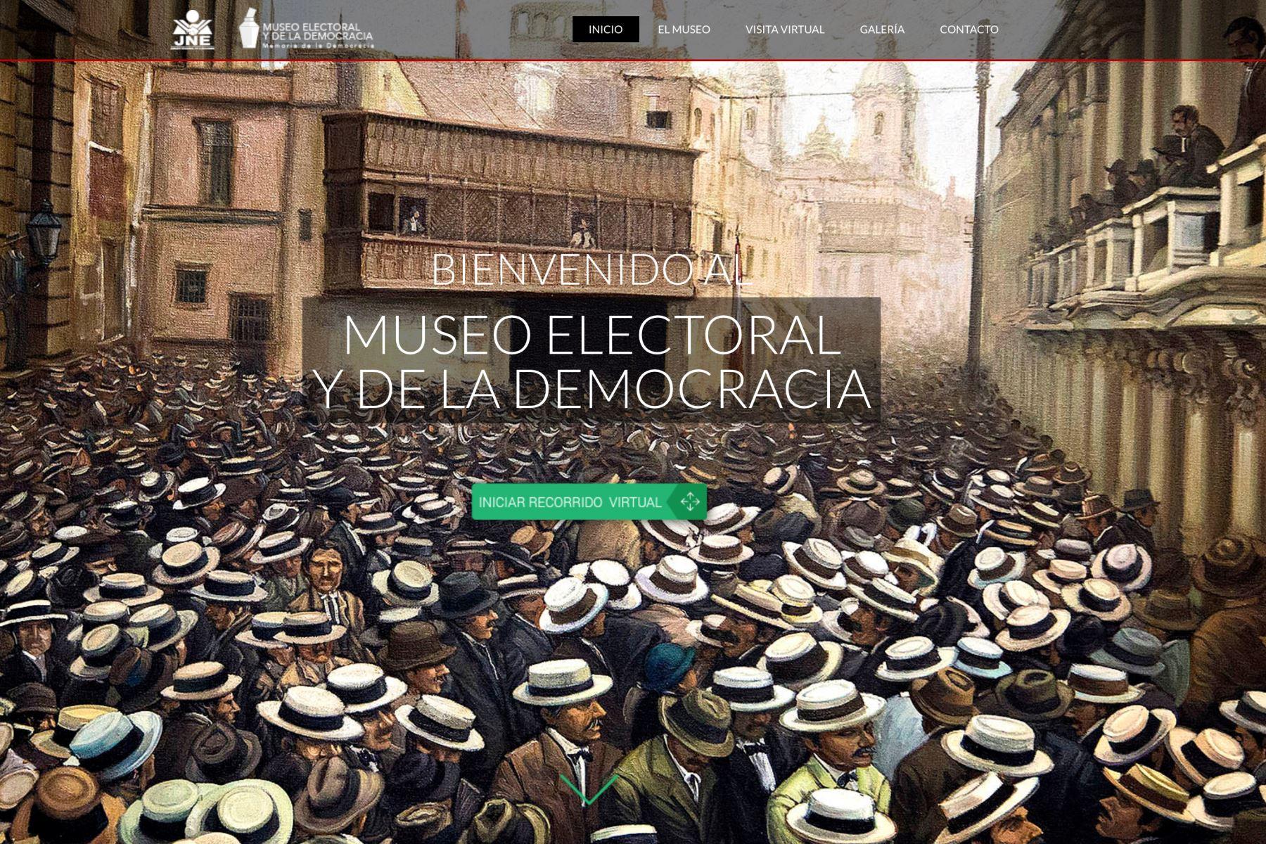 Museo electoral del JNE permite un recorrido virtual en el bicentenario