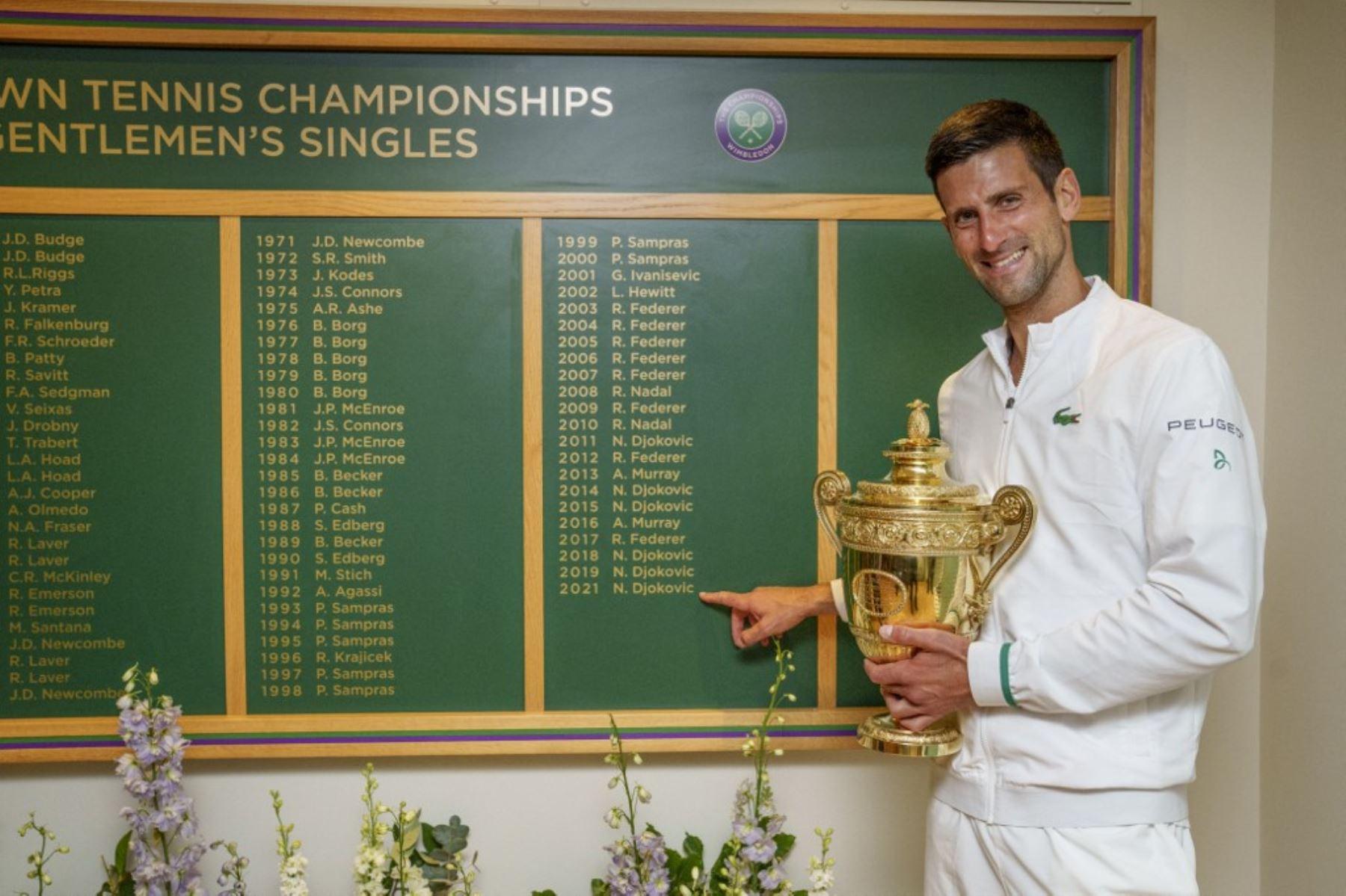 Djokovic es más número 1 en clasificación ATP tras ganar Wimbledon