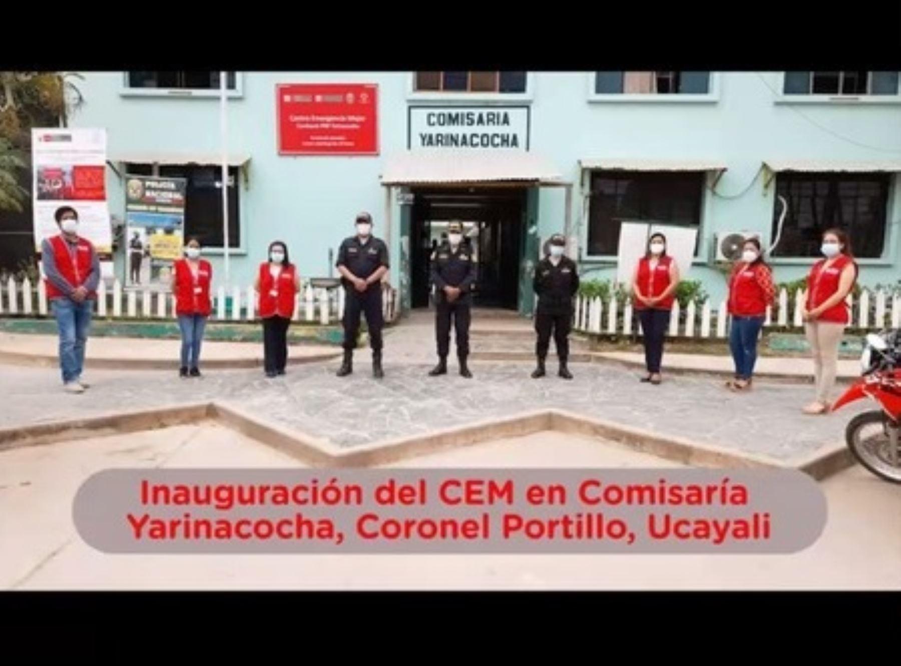 Ucayali: inauguran nuevo centro de emergencia mujer en comisaría de Yarinacocha