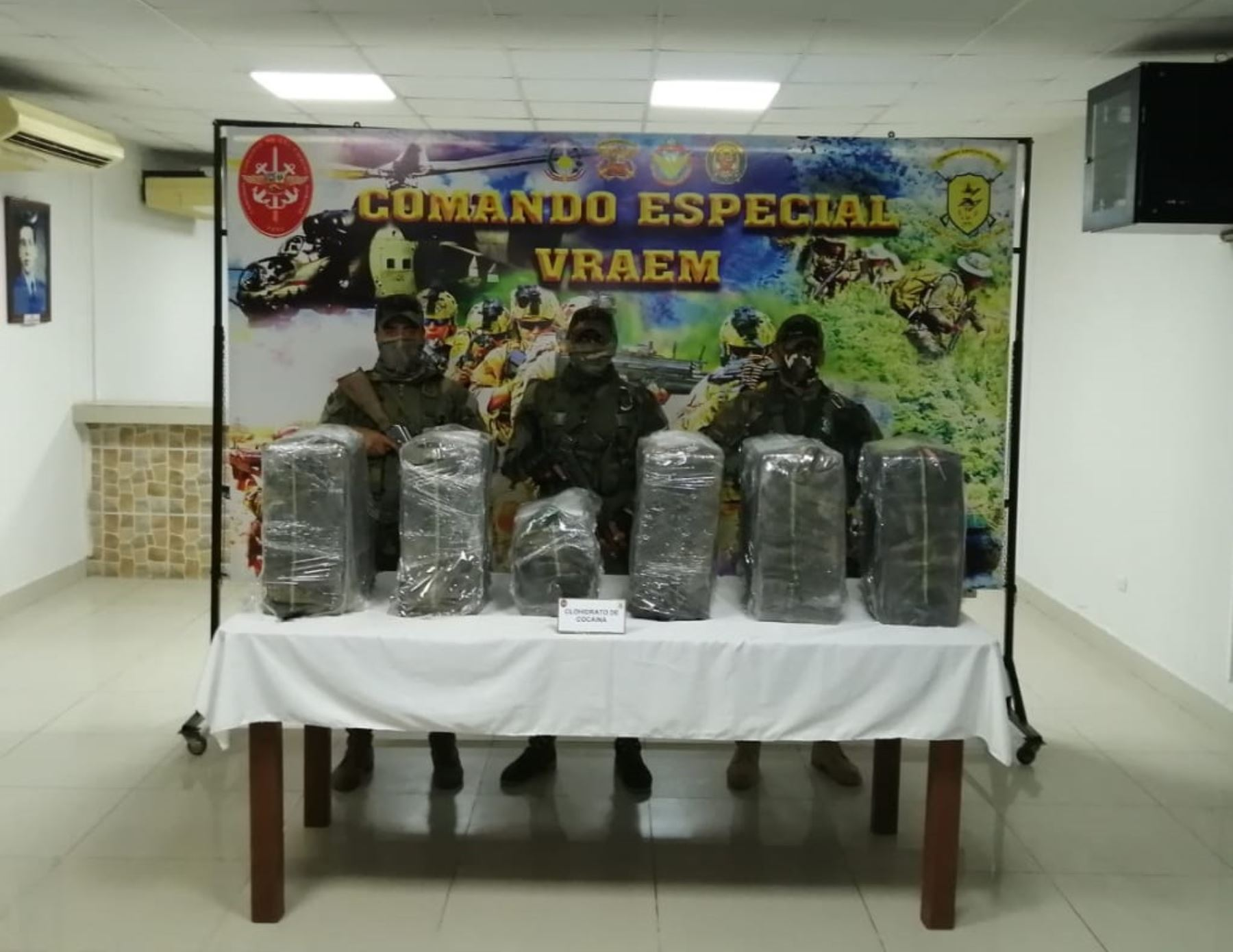 Vraem: incautan droga y desarticulan campamento de narcotraficantes en Megantoni