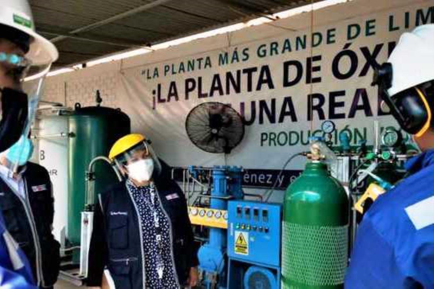 Minsa brindó autorización a alrededor de 300 plantas de oxígeno medicinal desde el 2020. Foto: ANDINA/difusión.