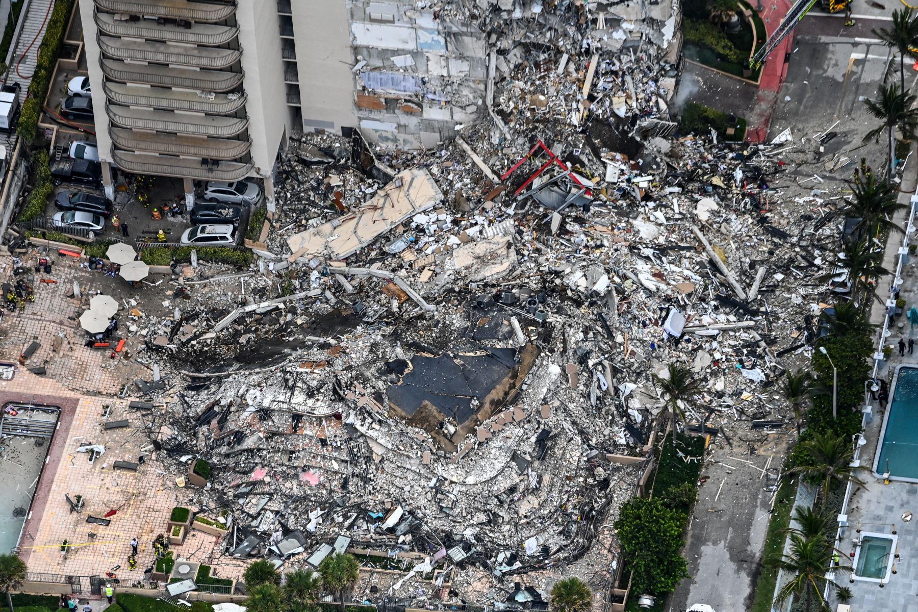 Identifican a otras cuatro víctimas del derrumbe de edificio en Miami-Dade