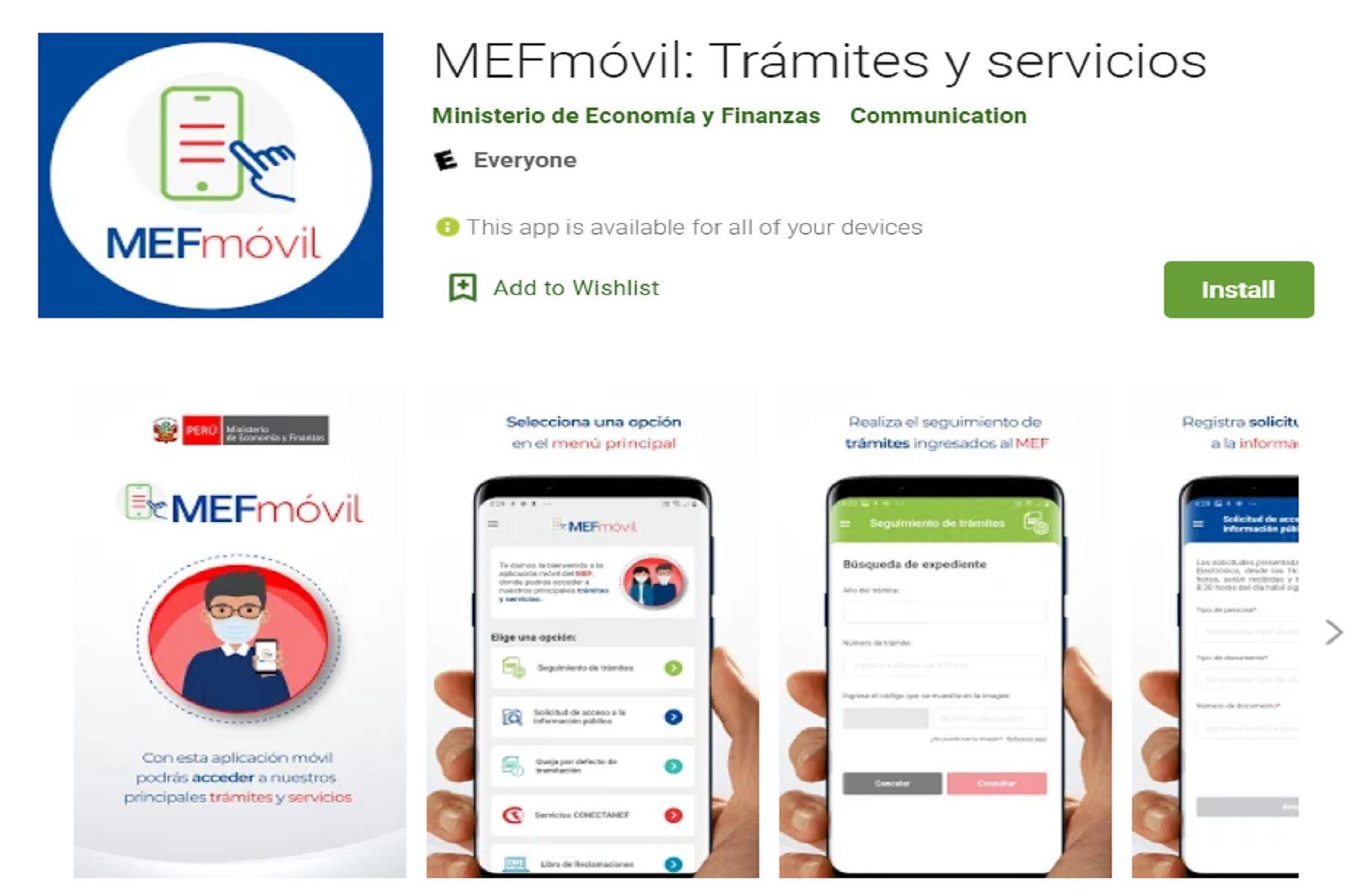 Ministerio de Economía y Finanzas lanza aplicativo para trámites y servicios