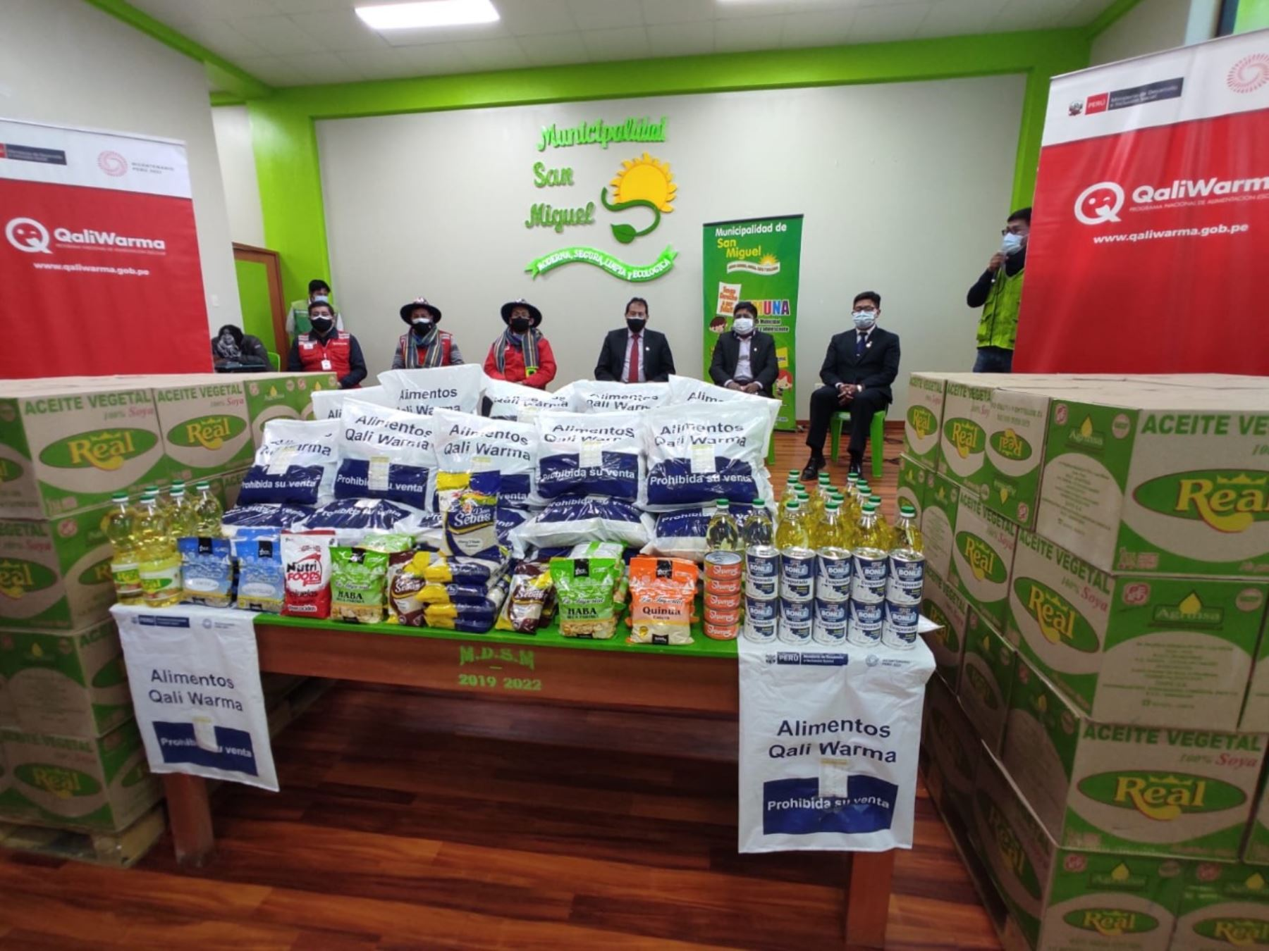 Puno: Qali Warma entregó más de 47 toneladas de alimentos a distrito de San Miguel